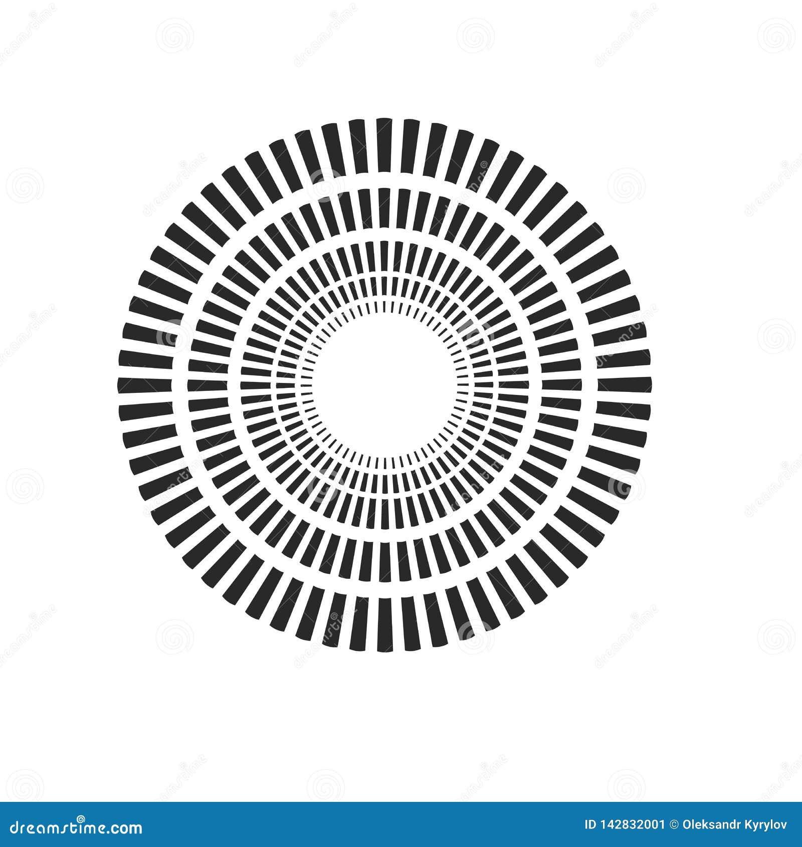 Взрыв, лучи, круги геометрического дизайна лучей Иллюстрация вектора изолированная на белой предпосылке