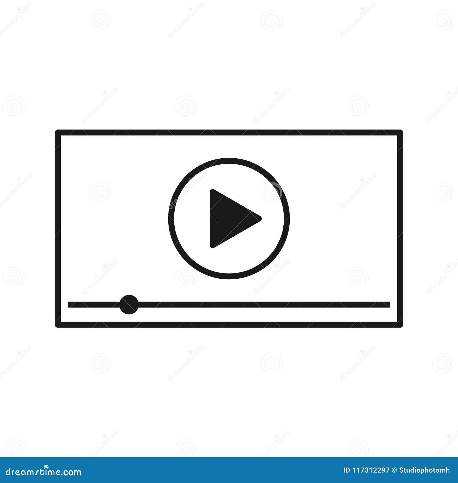 Видео-плейер для сети и передвижных apps также вектор иллюстрации притяжки corel