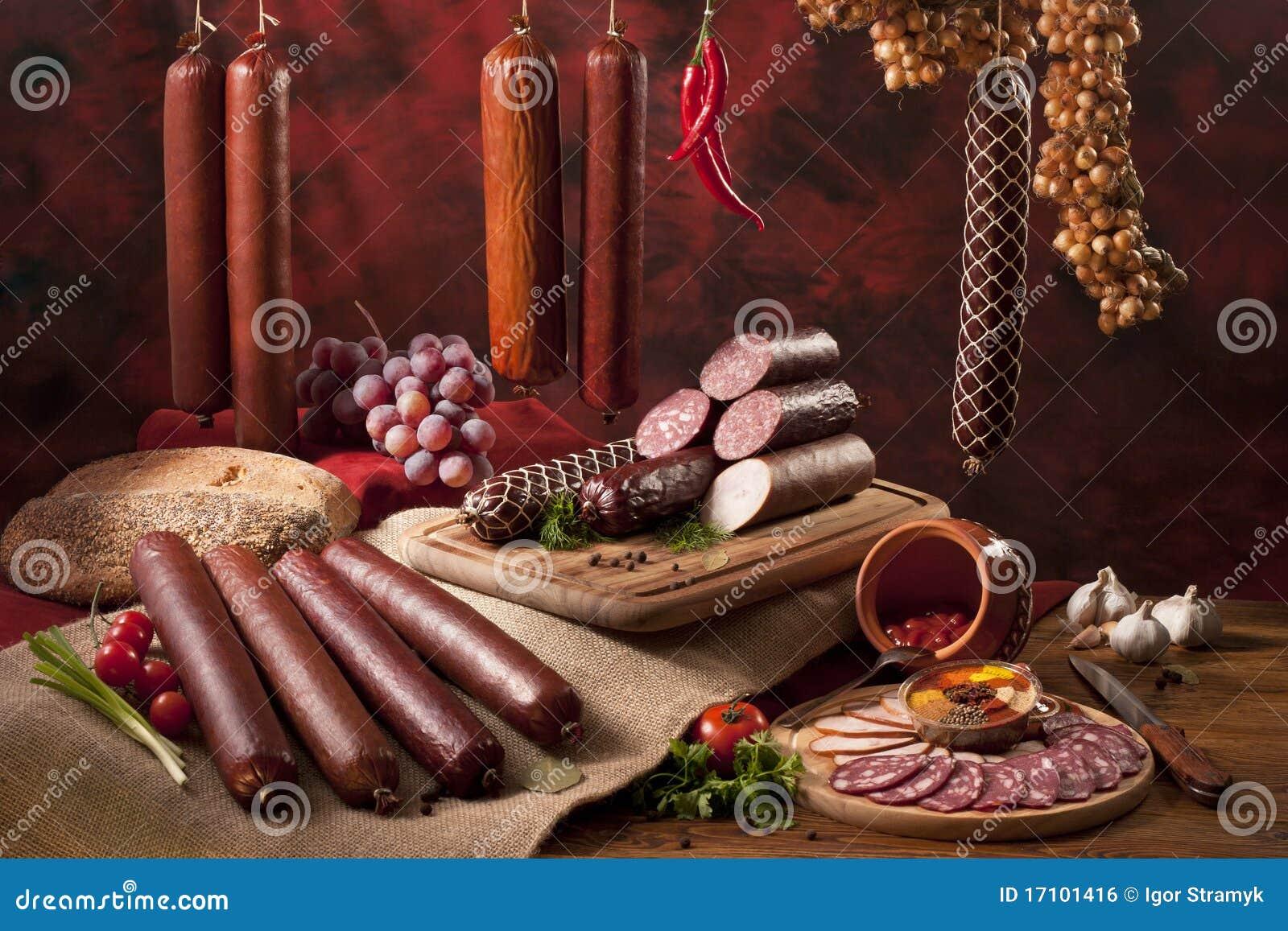 виды сосисок состава различные