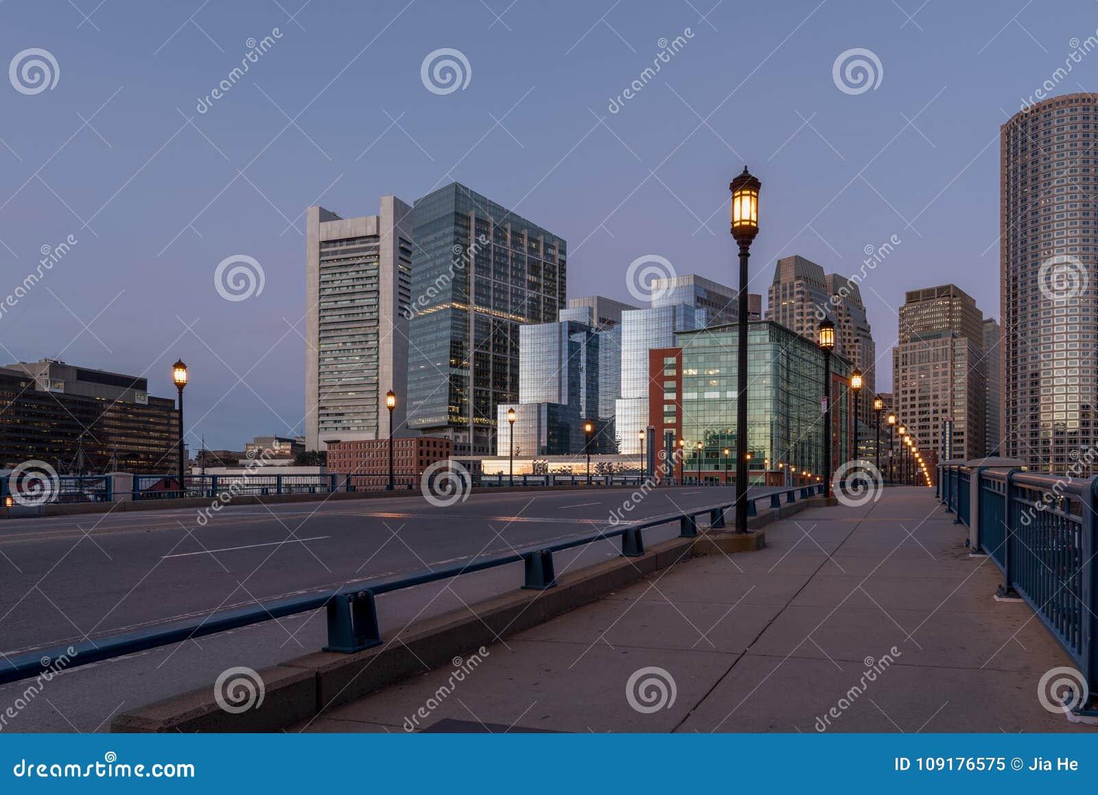 Вид на город Бостона