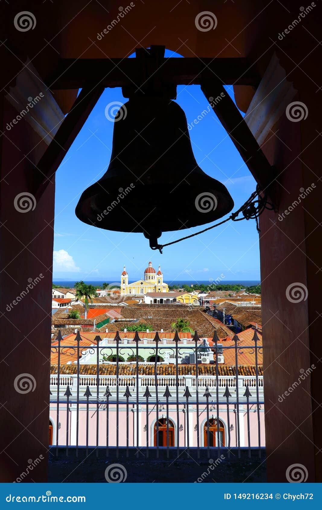 Вид на город от колокольни