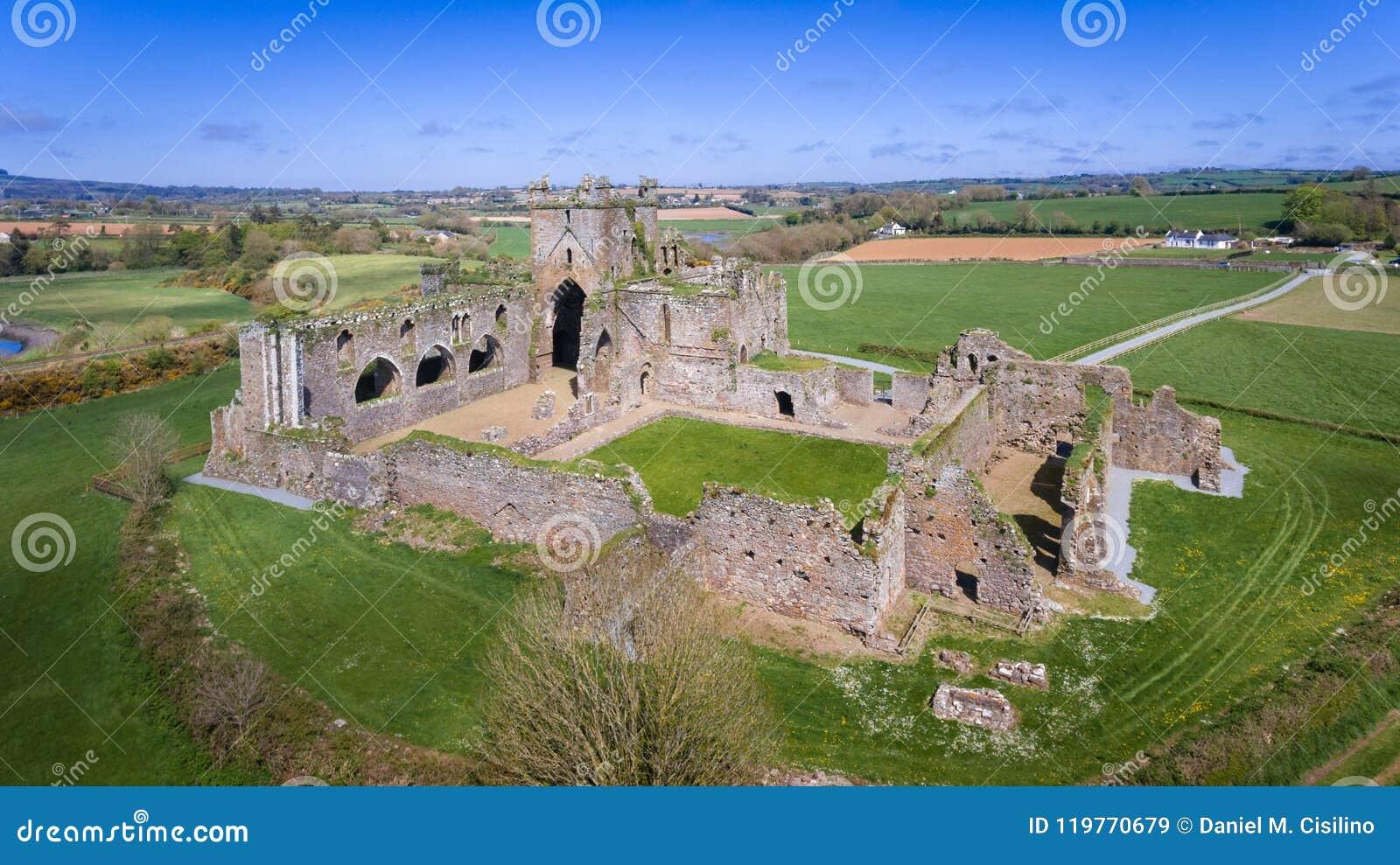 вид с воздуха аббатство dunbrody графство Wexford Ирландия