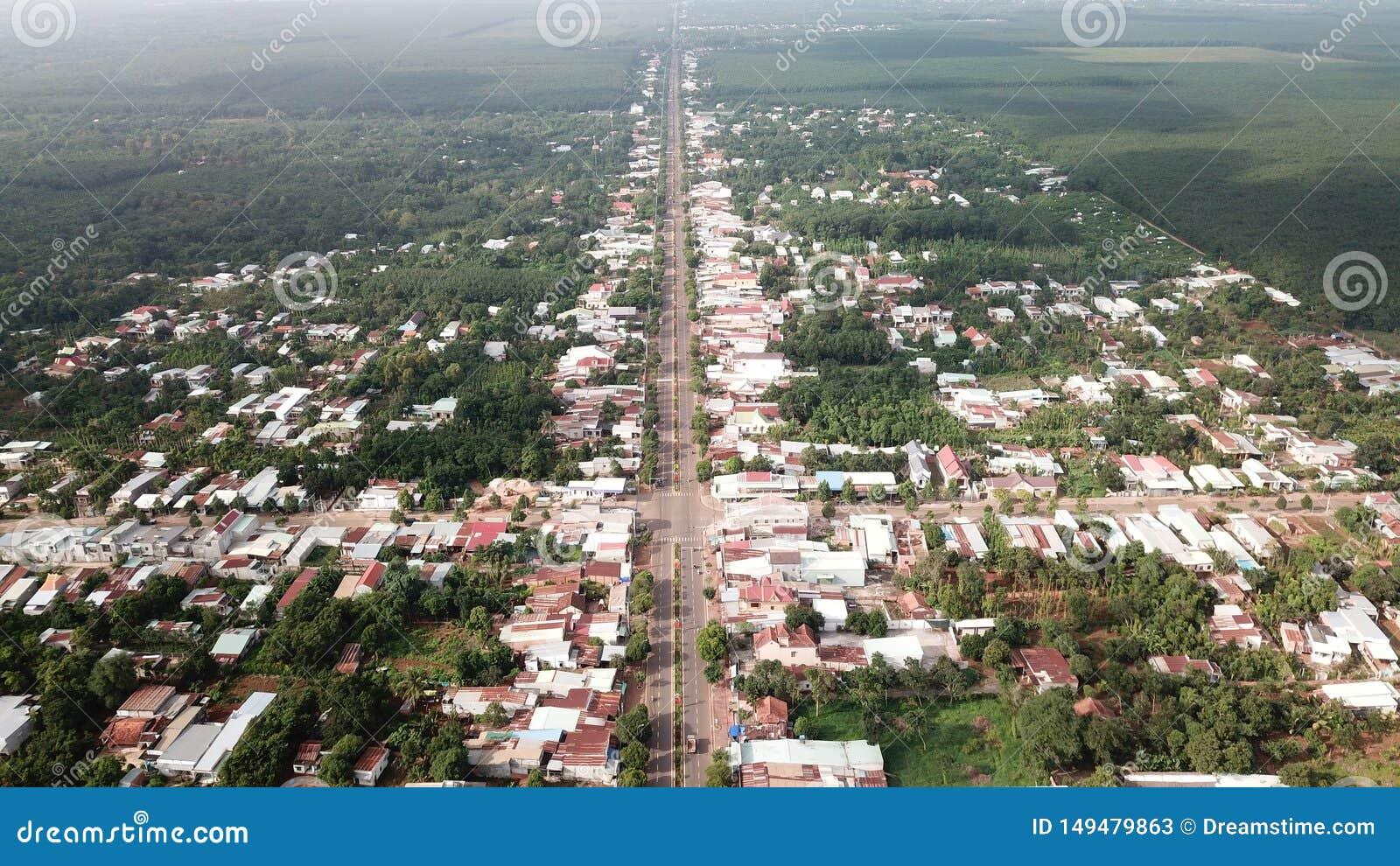 Вид с воздуха городка Ngai Giao