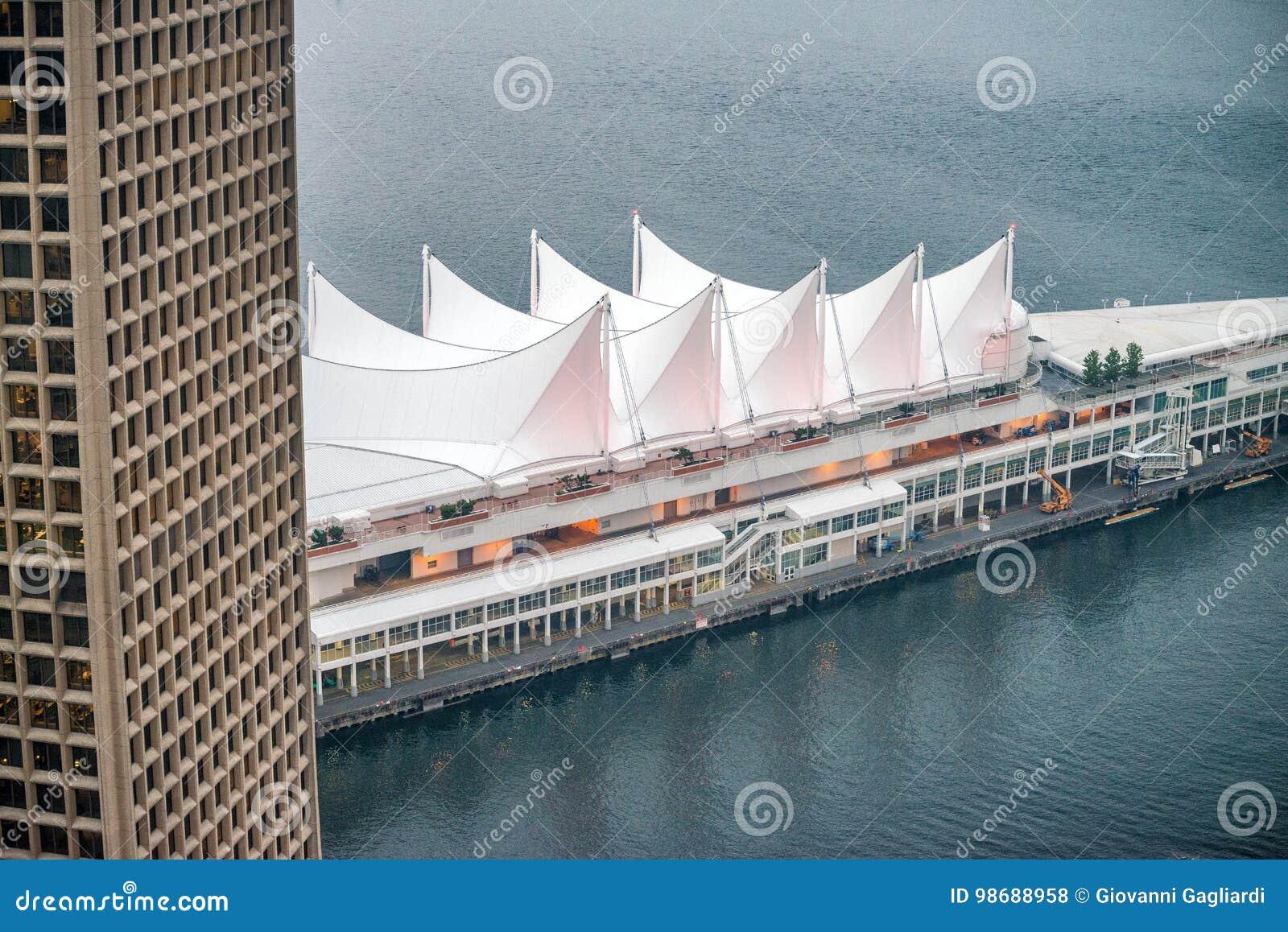 Вид с воздуха места Канады, Ванкувера - ДО РОЖДЕСТВА ХРИСТОВА