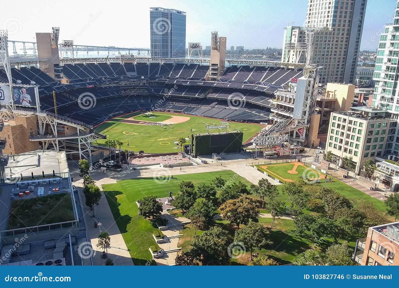 Вид с воздуха парка Petco в Сан-Диего