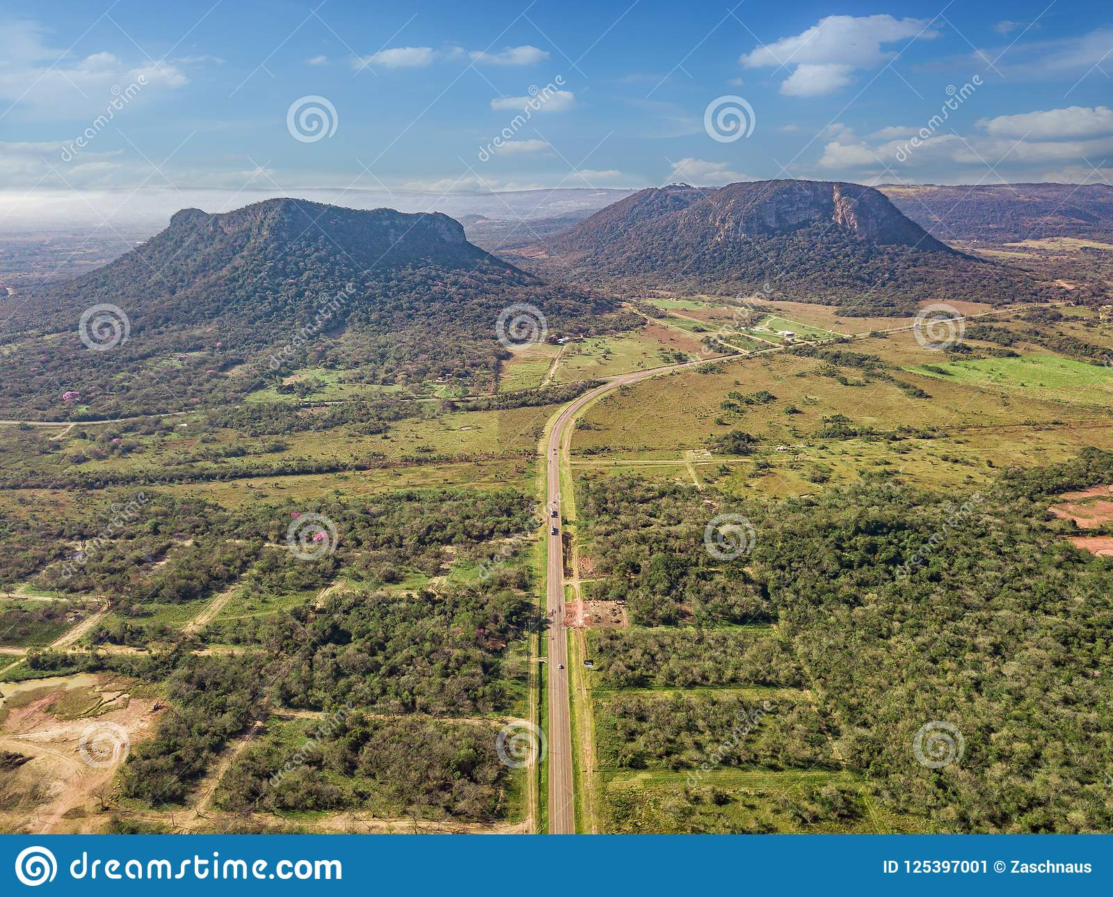 Вид с воздуха Cerro Paraguari