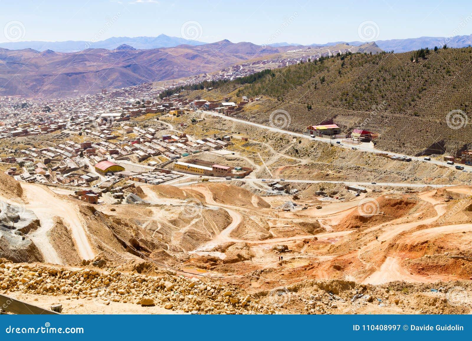 Вид с воздуха Potosi, Боливия