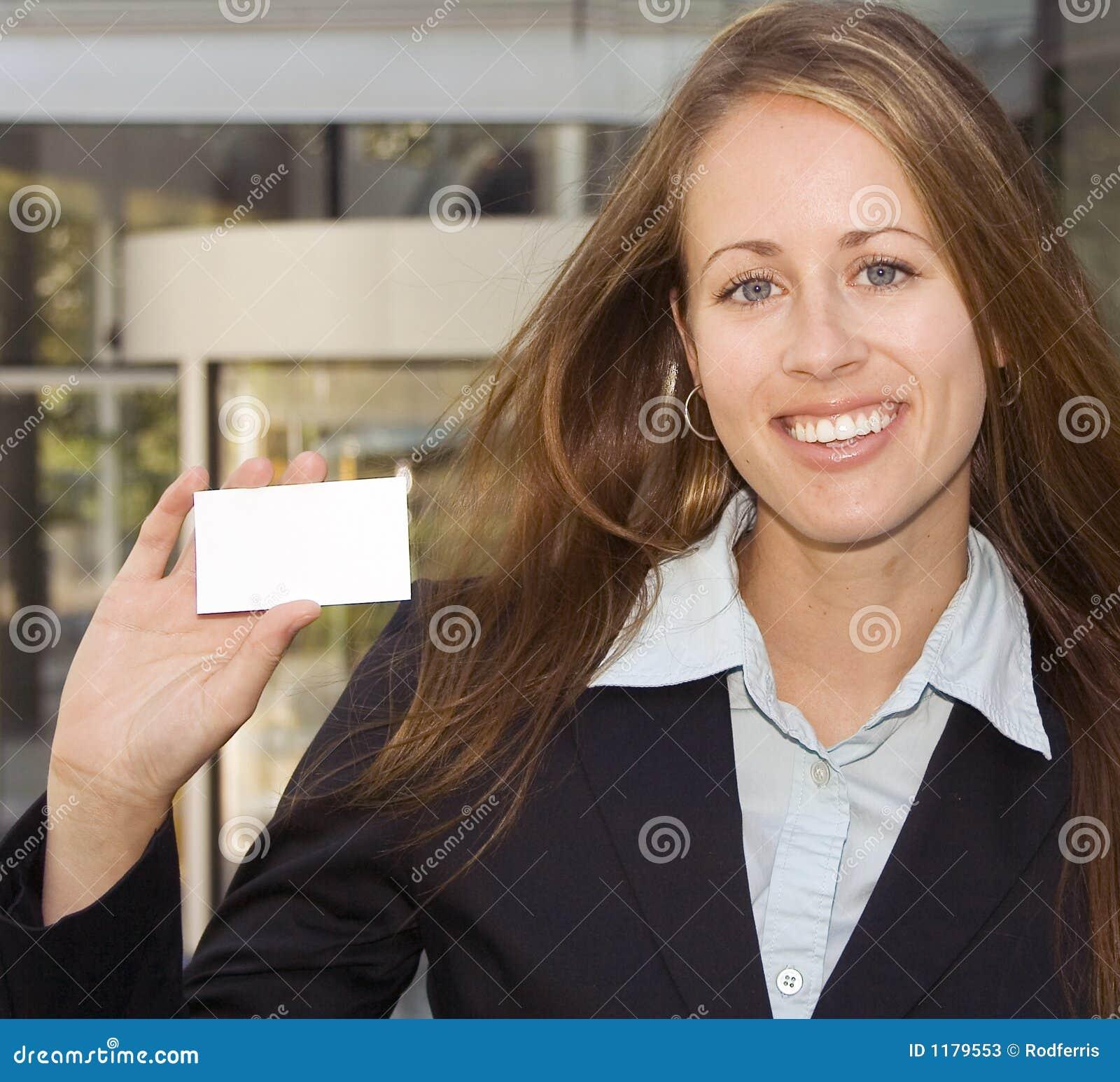 визитная карточка показывая женщине вас