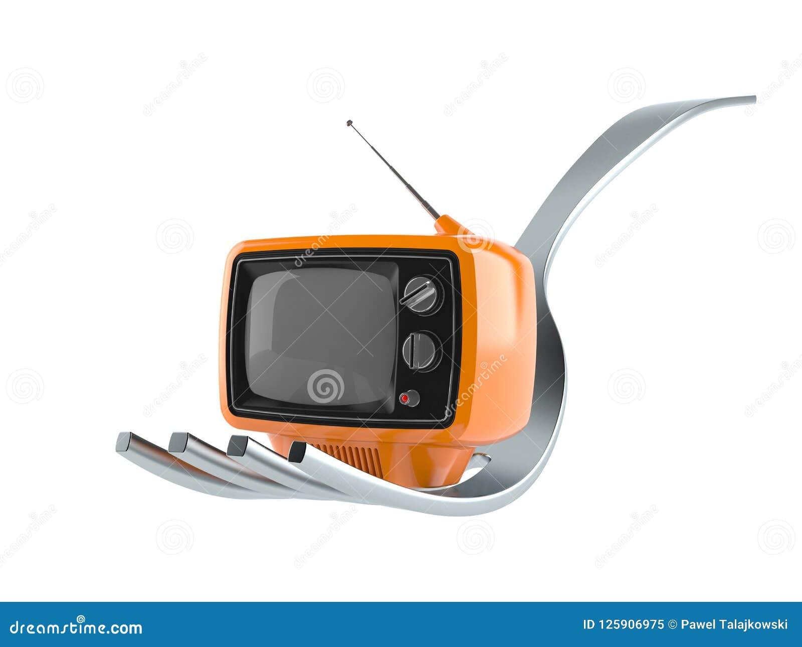 Вилка с телевизором