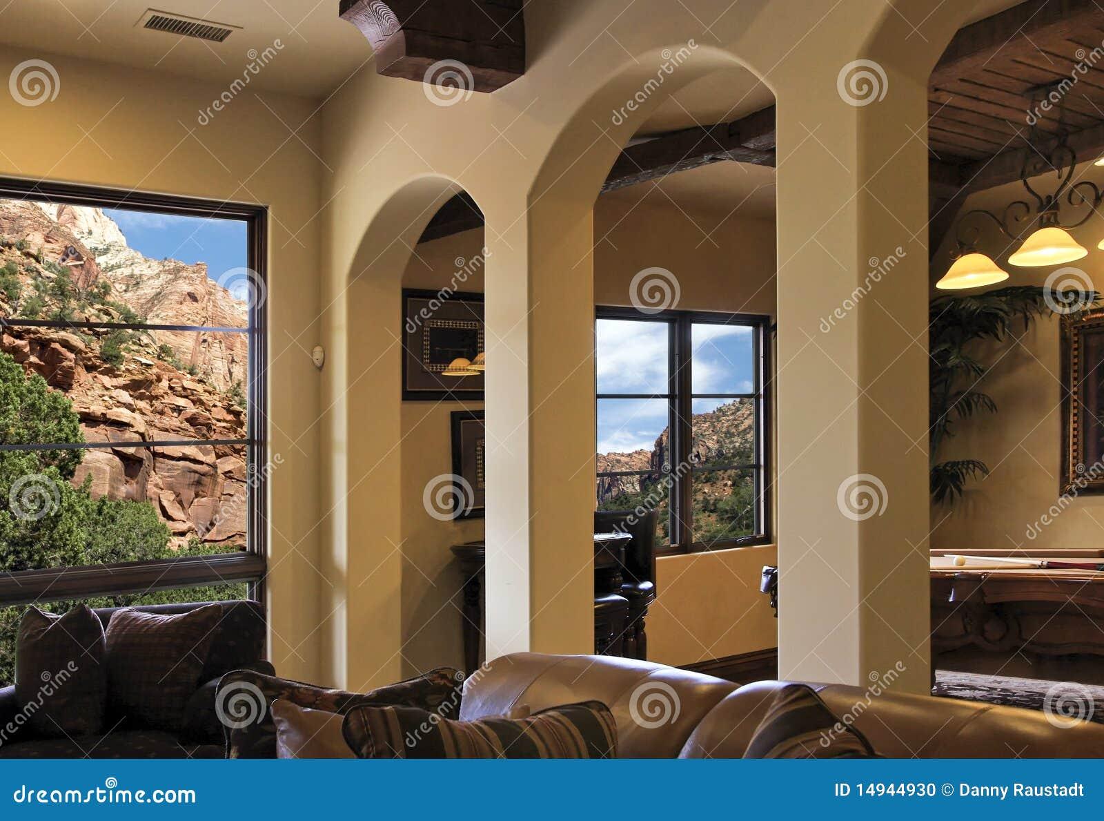 вилла горных склонов Аризоны домашняя нутряная самомоднейшая