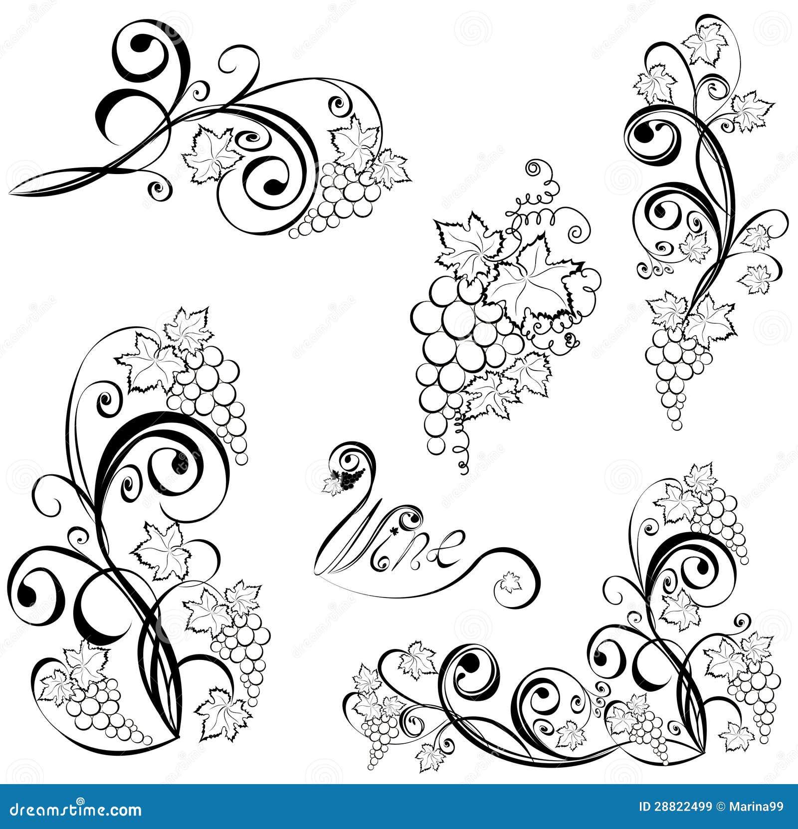 Виноградная лоза узор