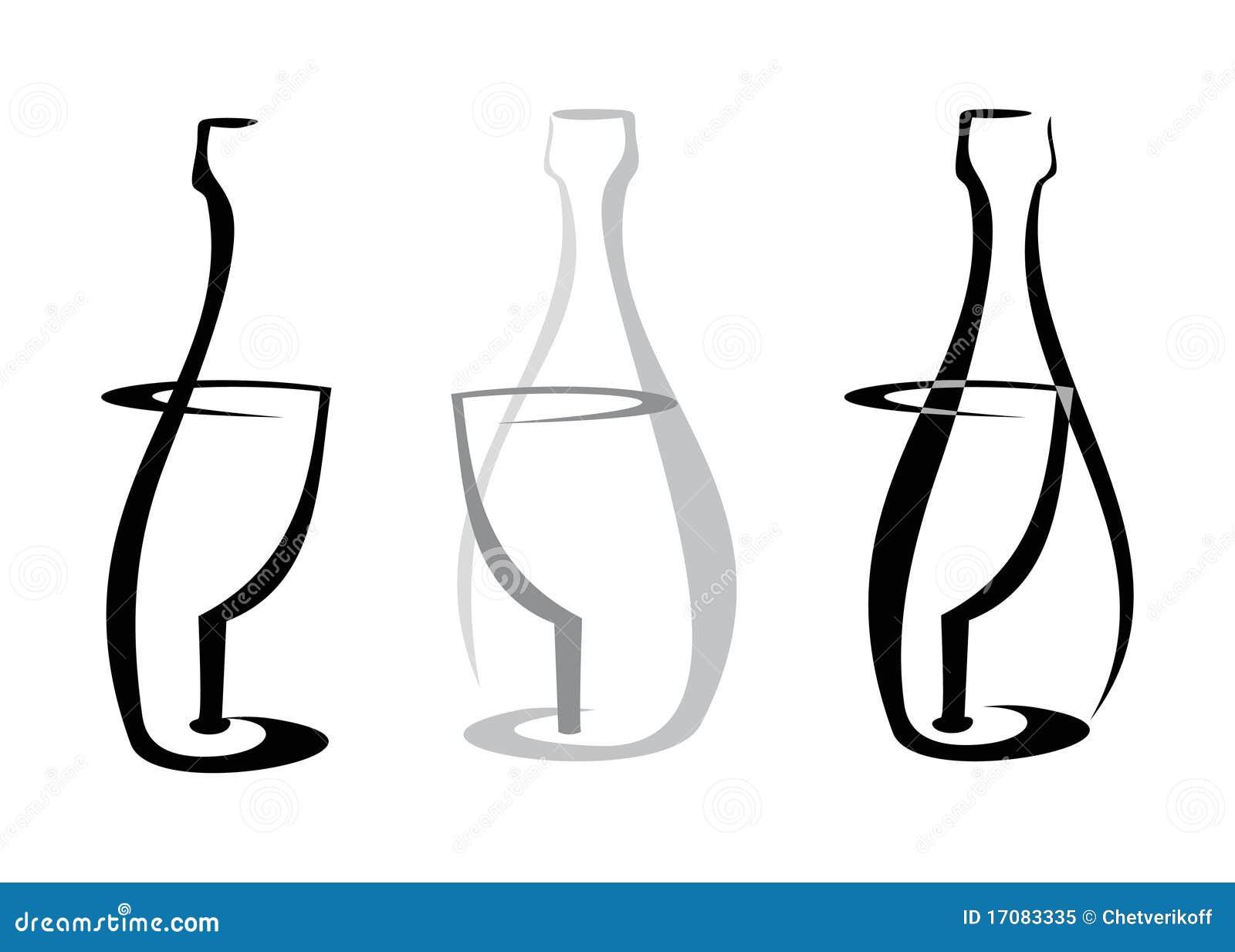 вино бутылочного стекла белое