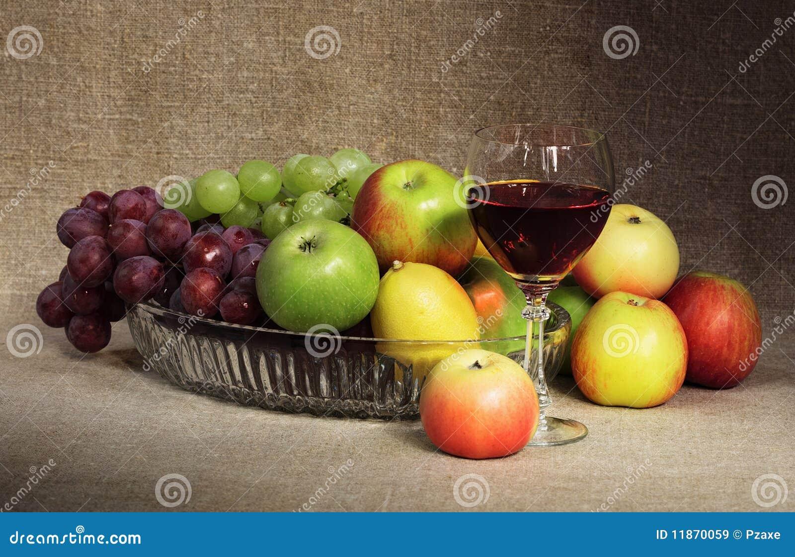 вино классической жизни плодоовощ стеклянной неподвижное
