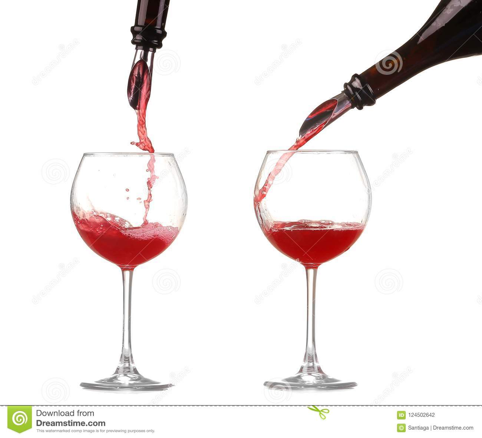 Вино коллажа красное лить в изолированный бокал