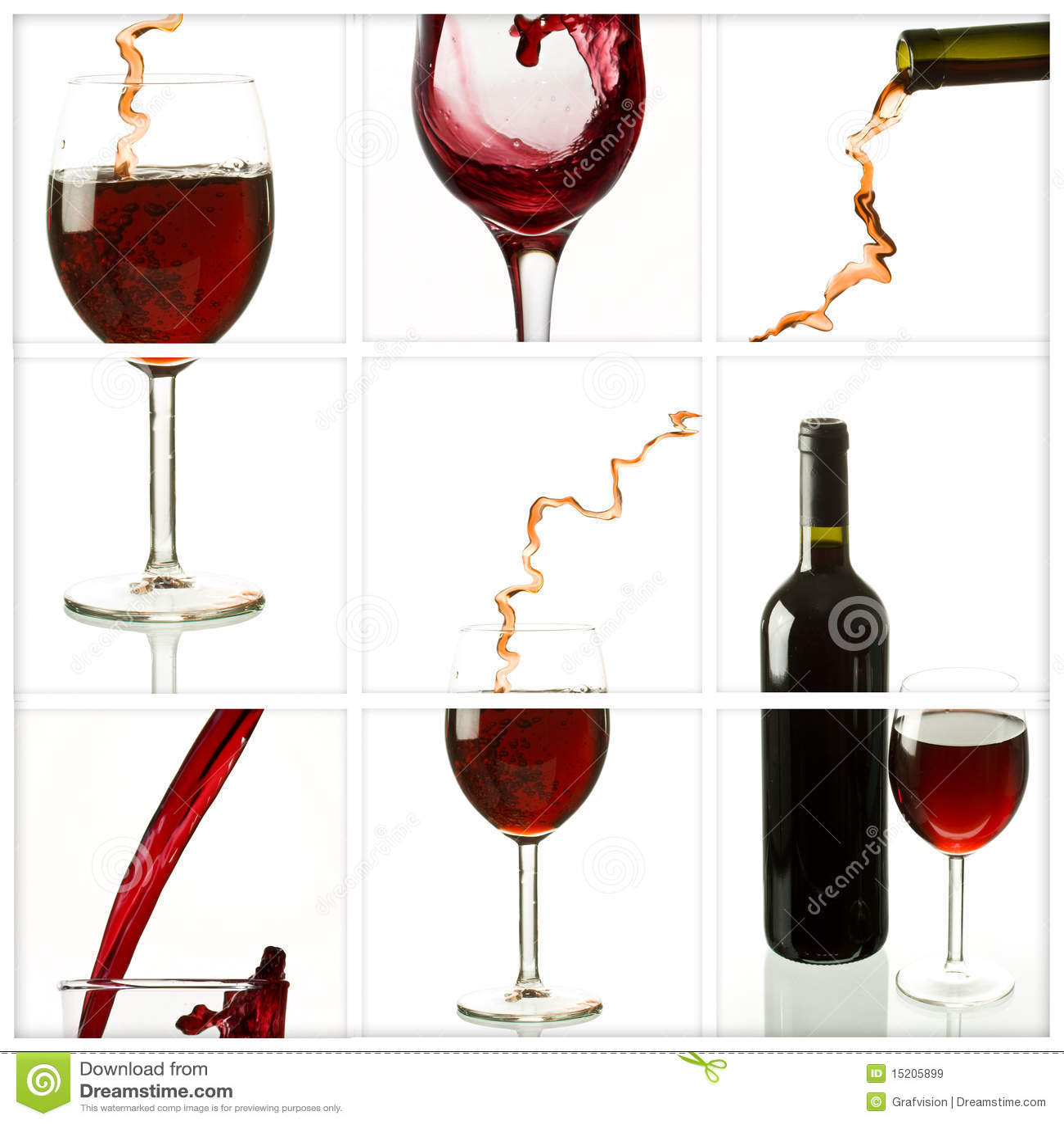 вино коллажа