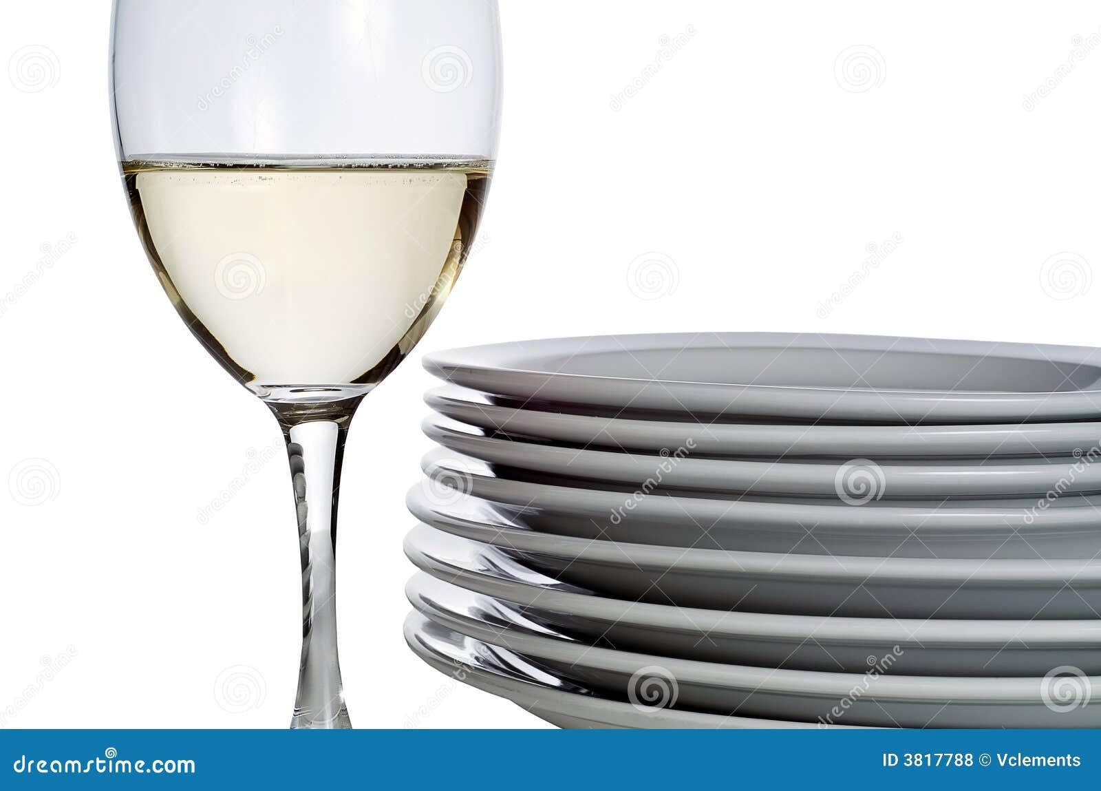 вино стеклянных блюд