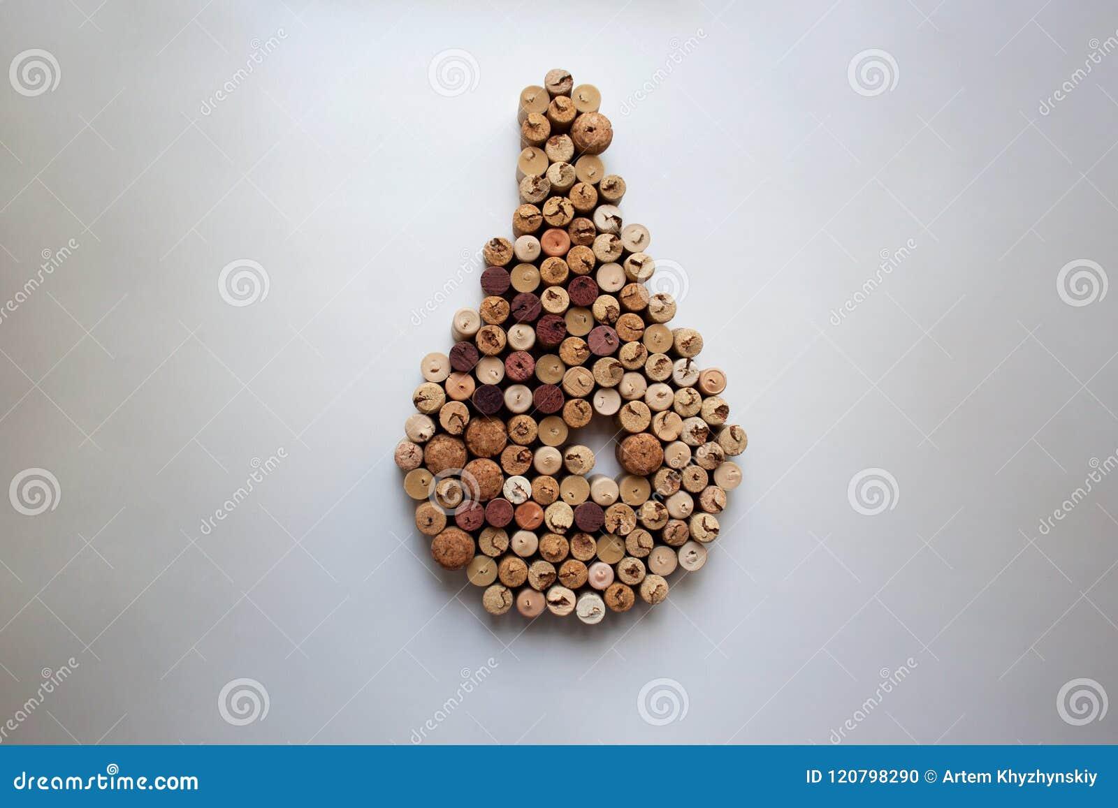 Вино corks состав сформированный падением