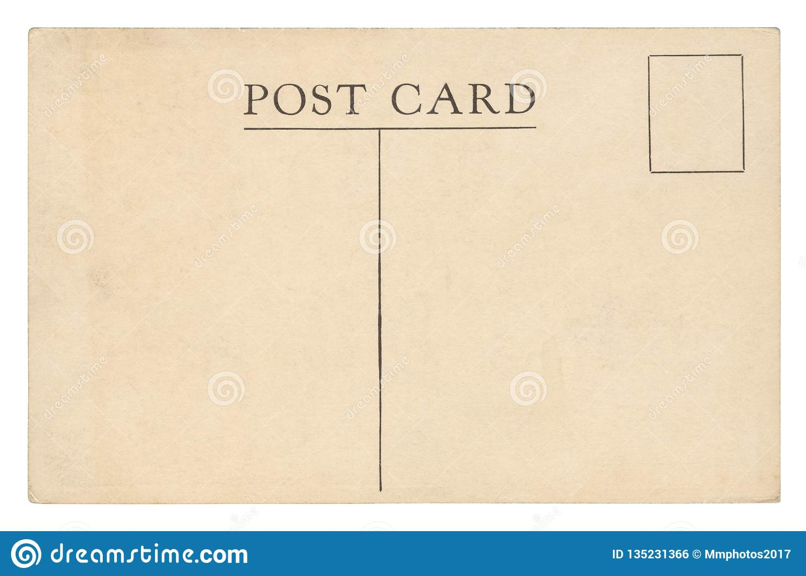 Винтажная изолированная открытка -