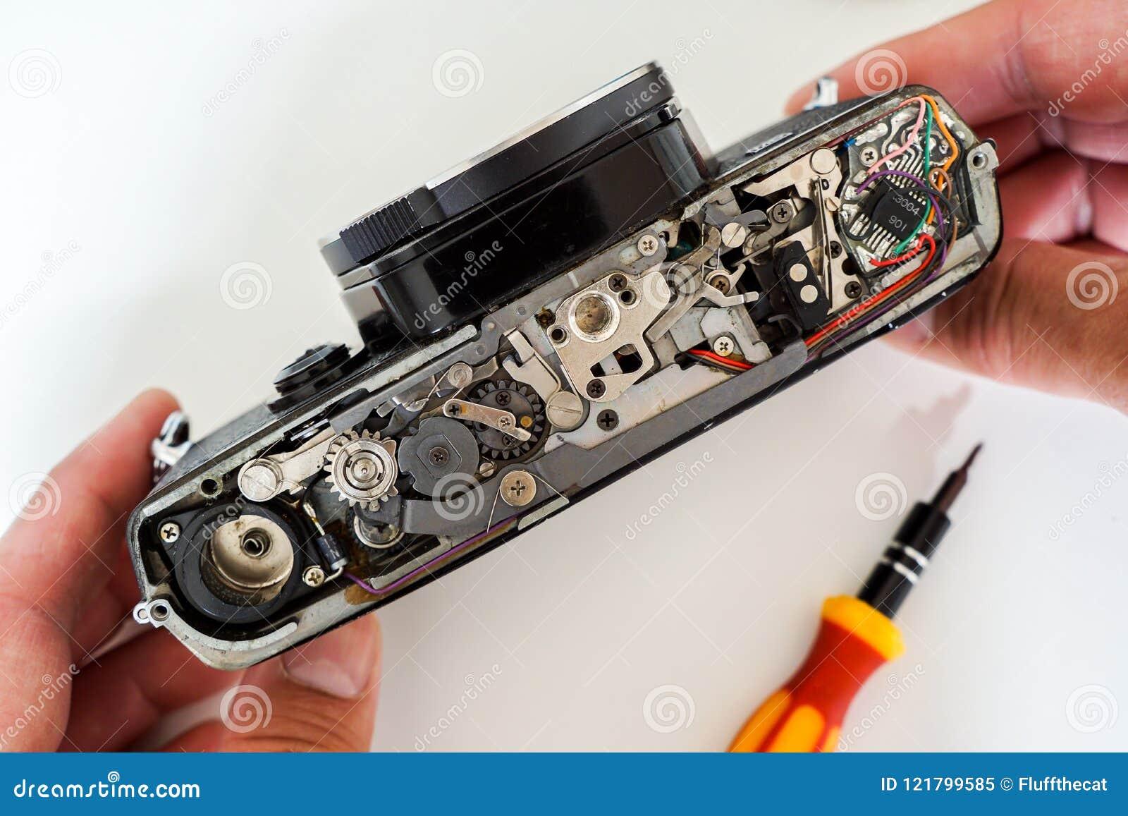 Винтажная камера фильма для ремонта