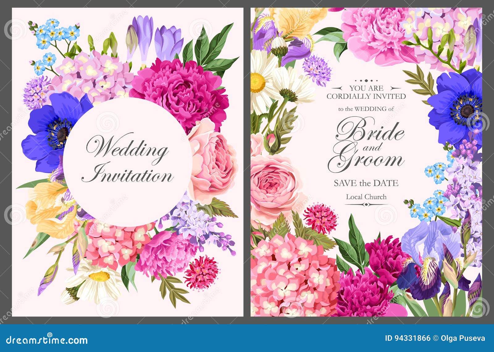 Винтажная карточка с цветками сада
