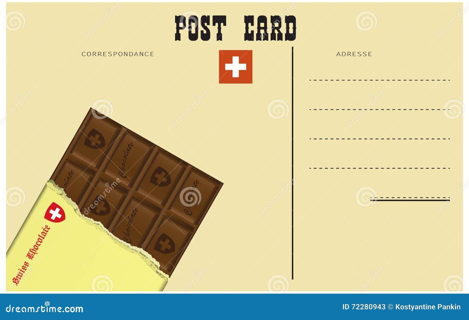 Download Винтажная швейцарская открытка Иллюстрация вектора - иллюстрации насчитывающей ностальгия, почта: 72280943