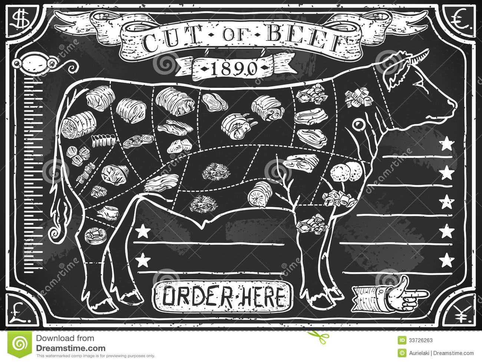 Винтажное графическое классн классный для мясной лавки