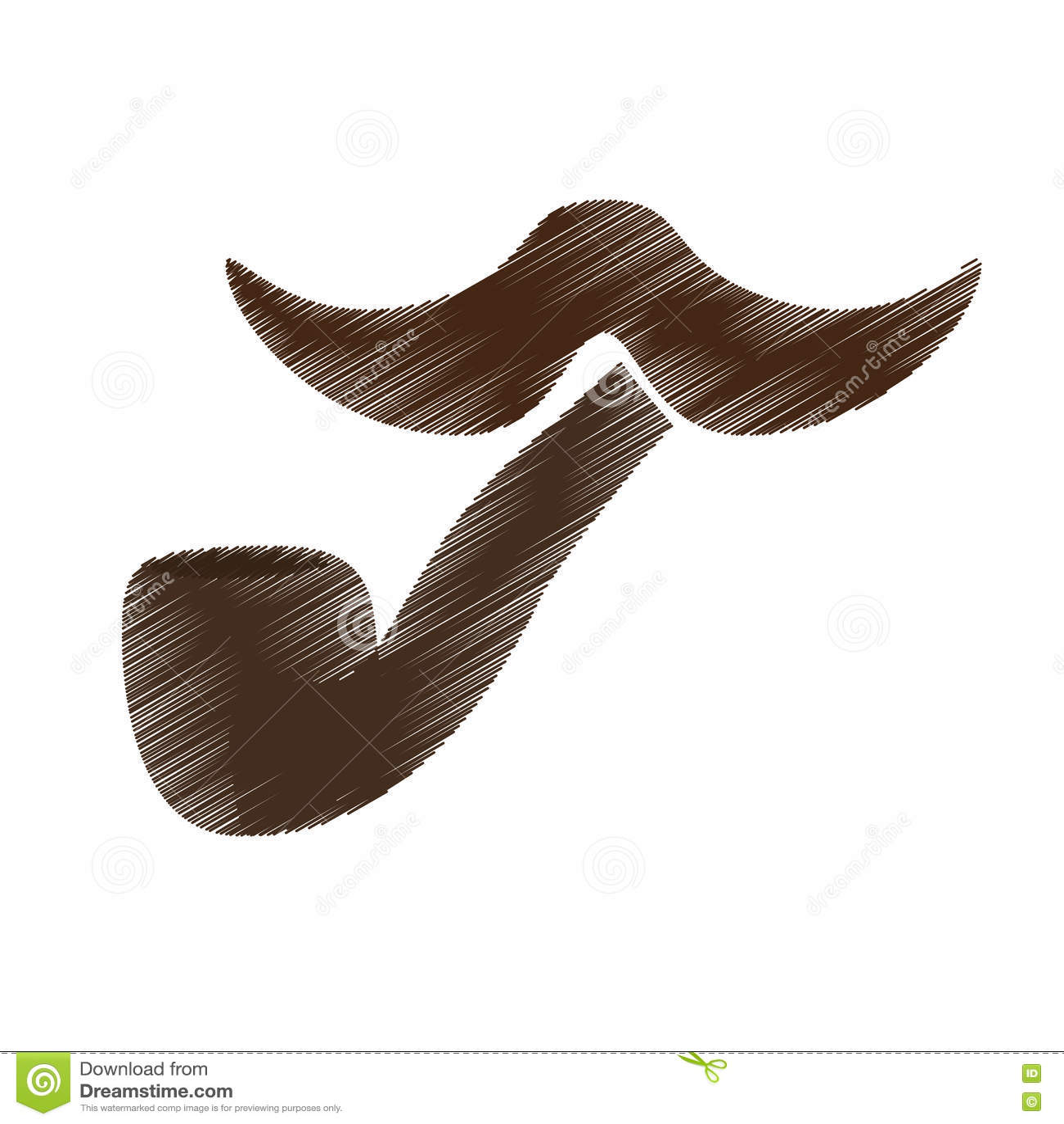 Винтажное изображение значка волос на лице