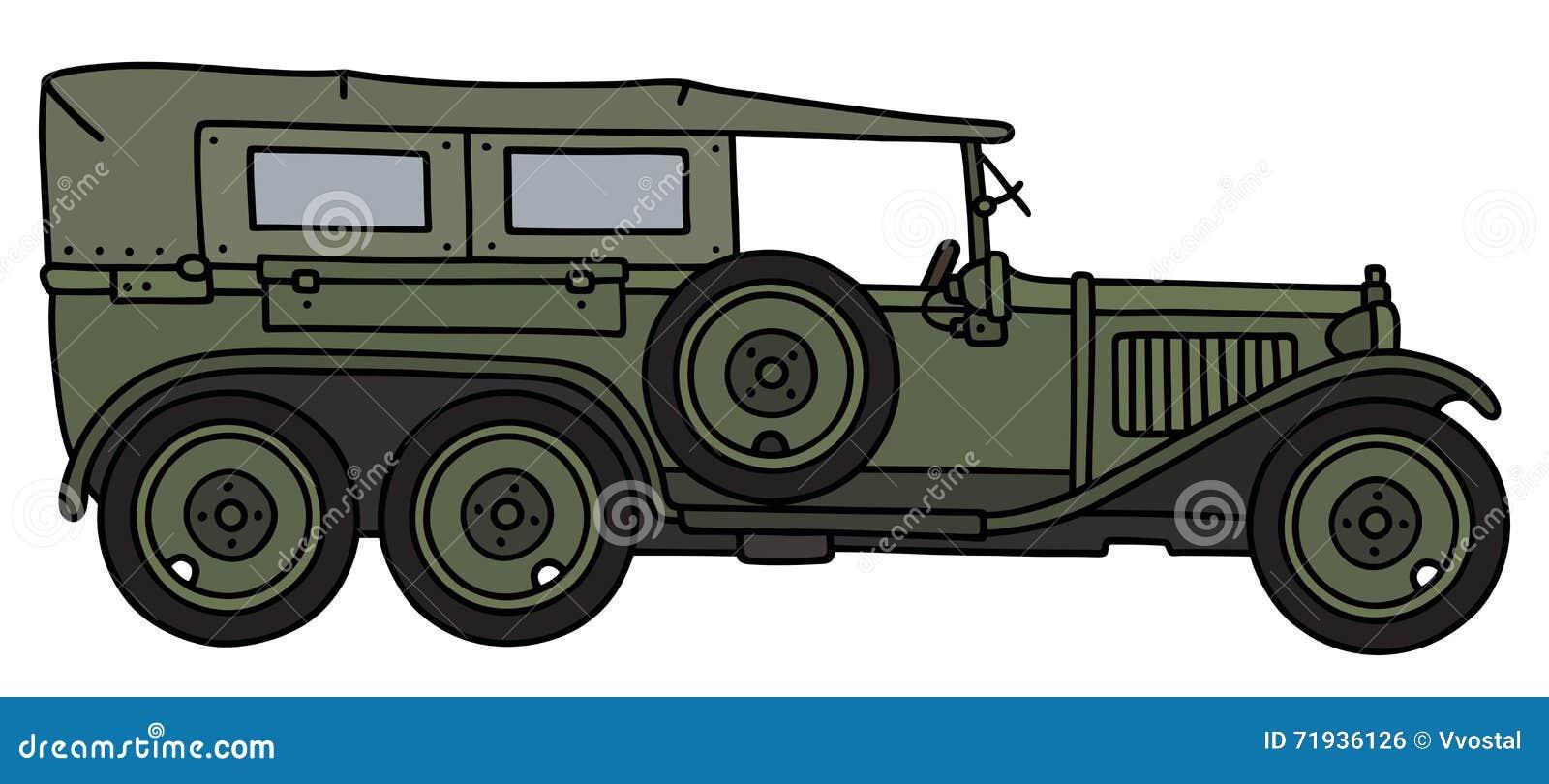 Винтажный воинский автомобиль