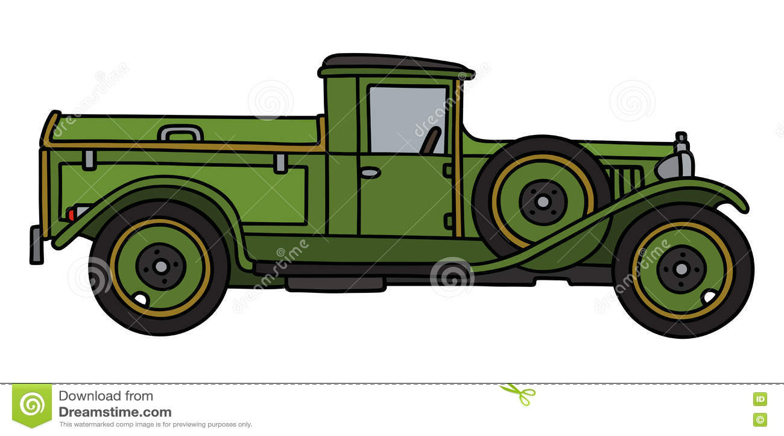Винтажный зеленый dustcart