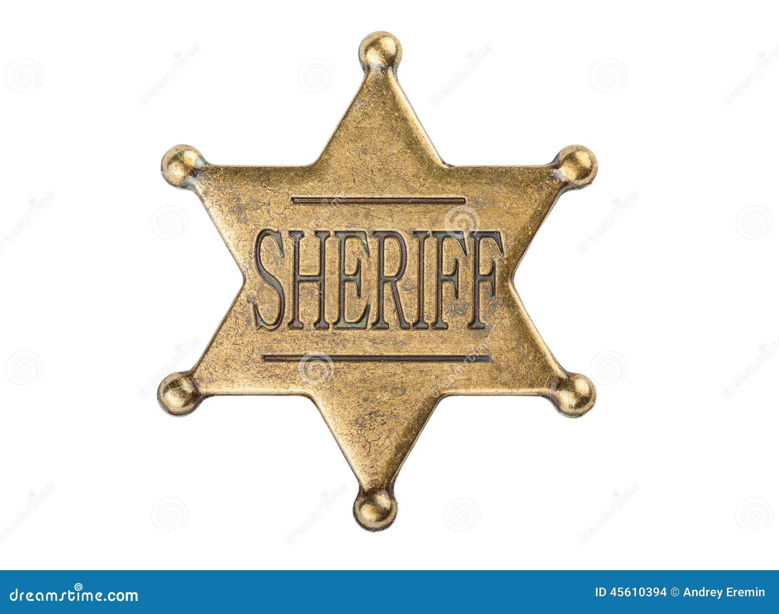 Винтажный значок звезды шерифа