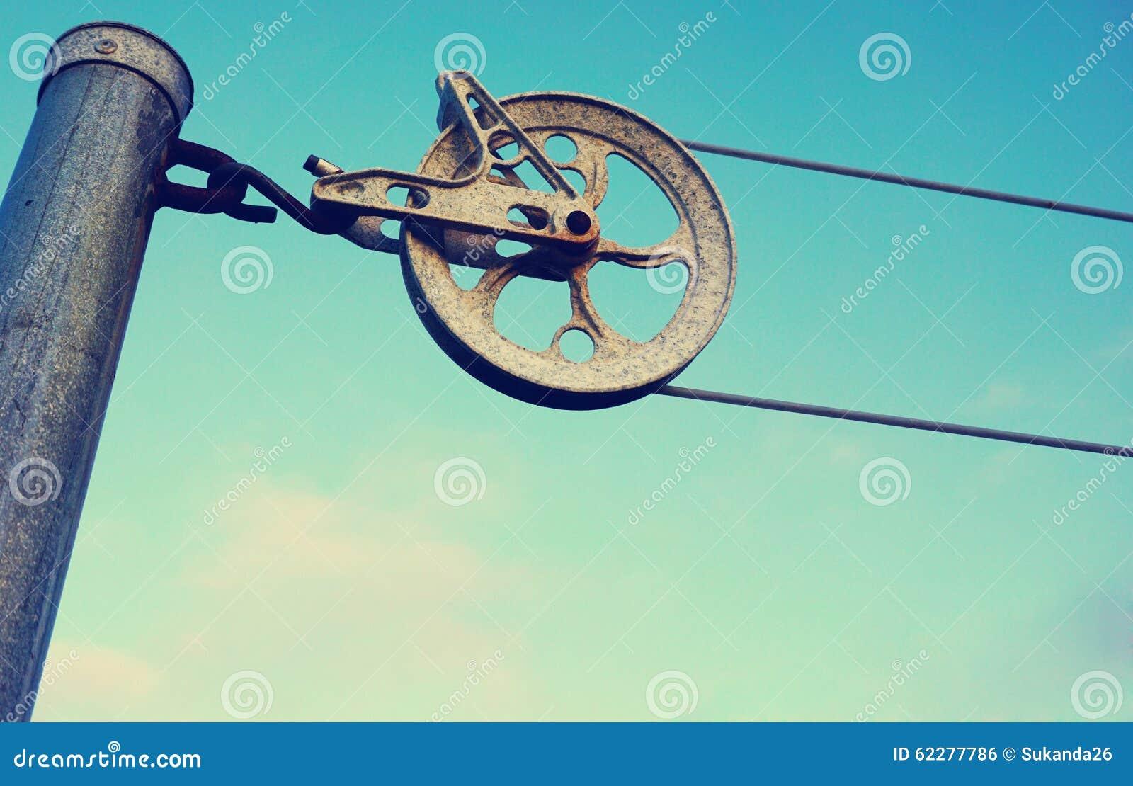 Винтажный старый стиль колеса clothline
