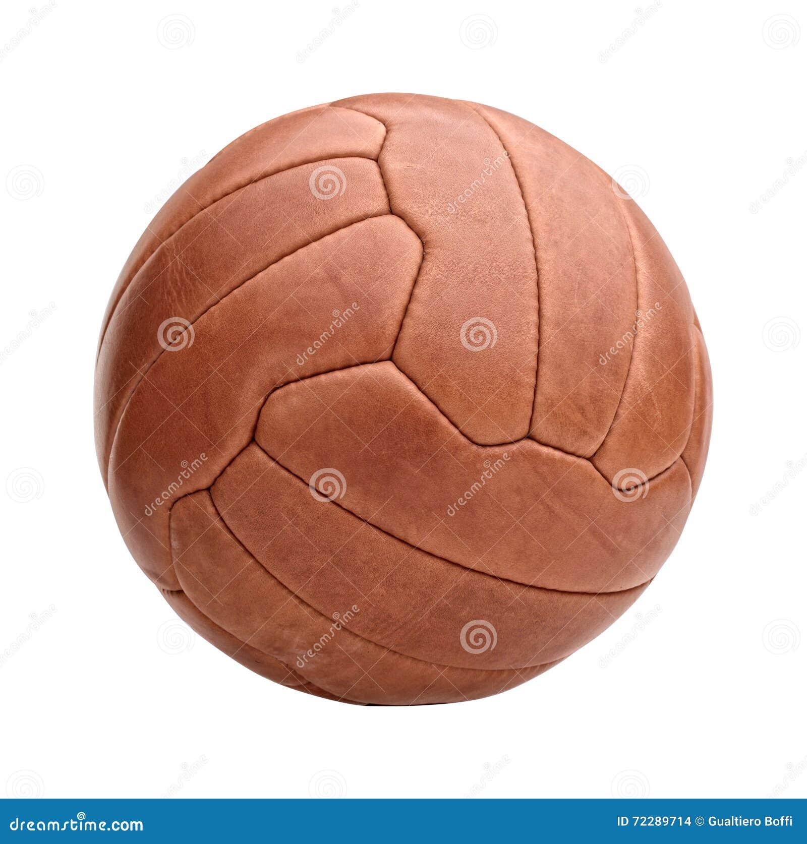 Download Винтажный футбольный мяч стоковое фото. изображение насчитывающей спорт - 72289714