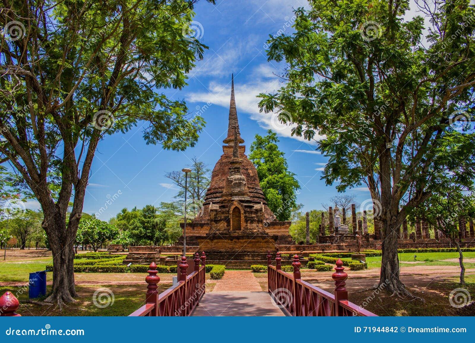 Висок в парке Таиланде Sukhothai историческом