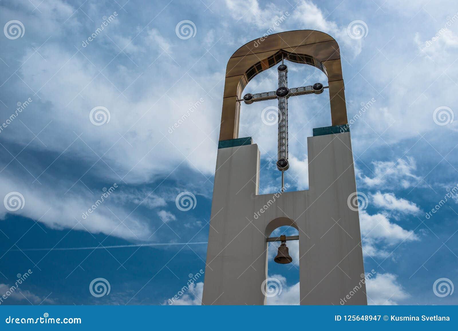 Висок в честь матери ` горящего Буша ` бога в городе Dyadkovo, зоны Bryansk России