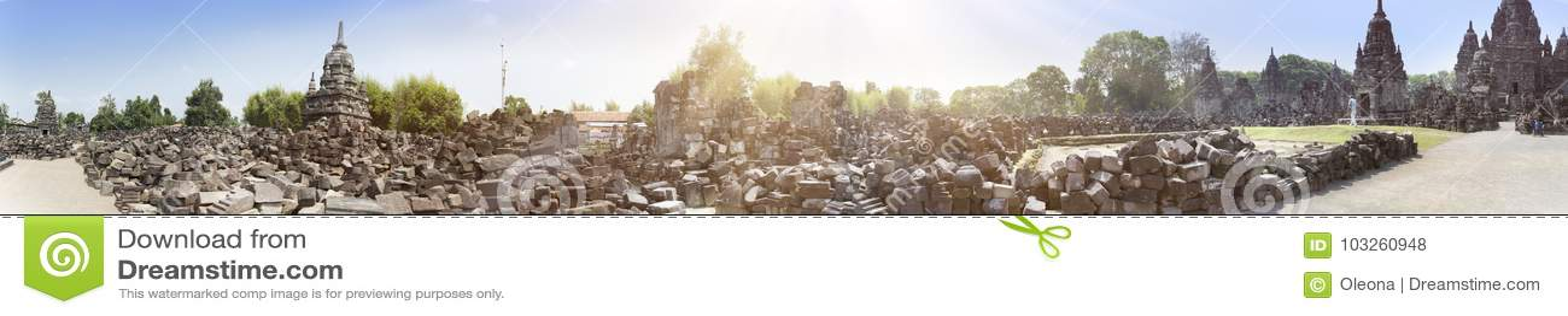 Висок губит висок Chandi Sewu borobodur Индонесия java