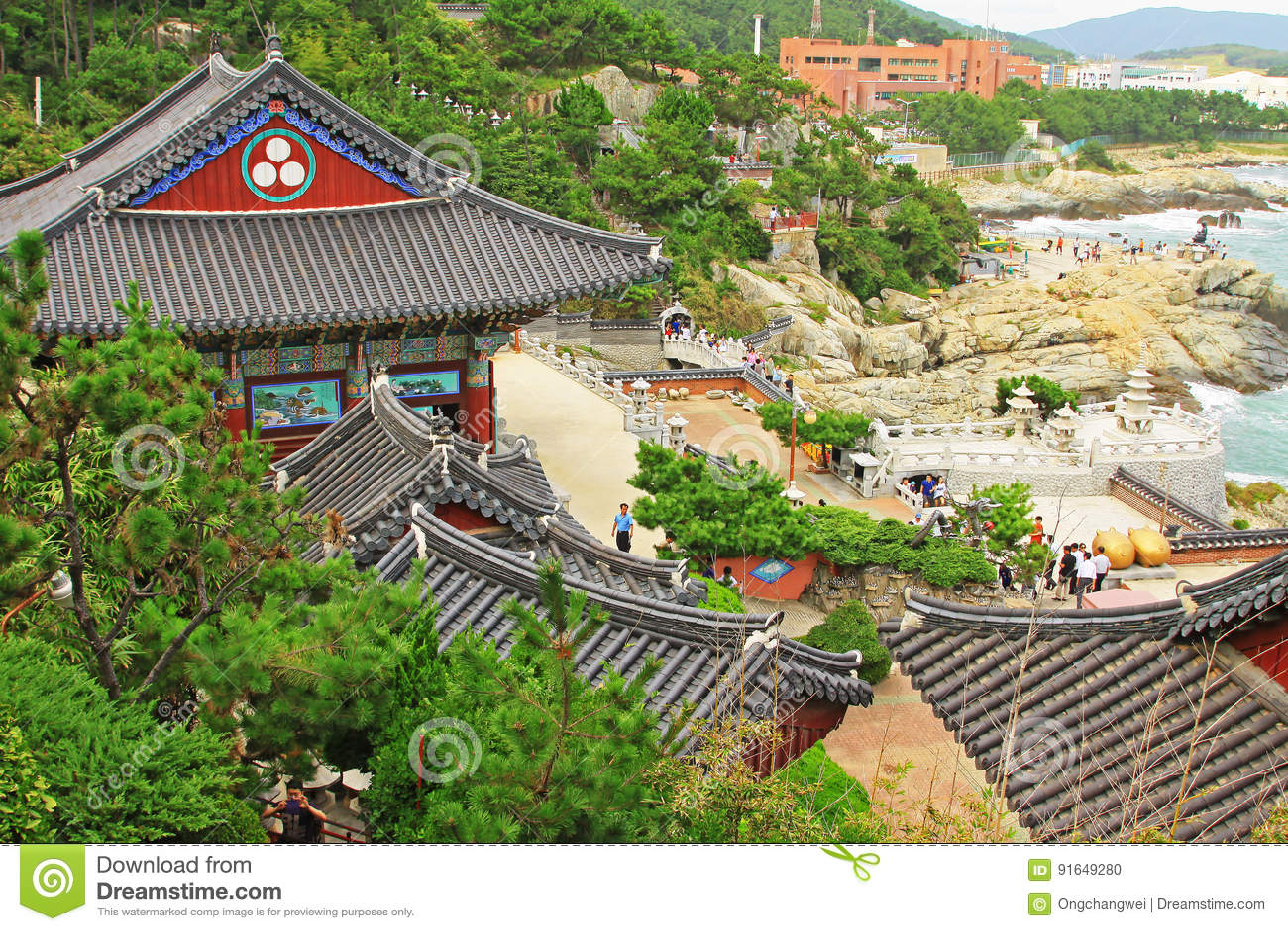 Висок Кореи Пусана Haedong Yonggungsa