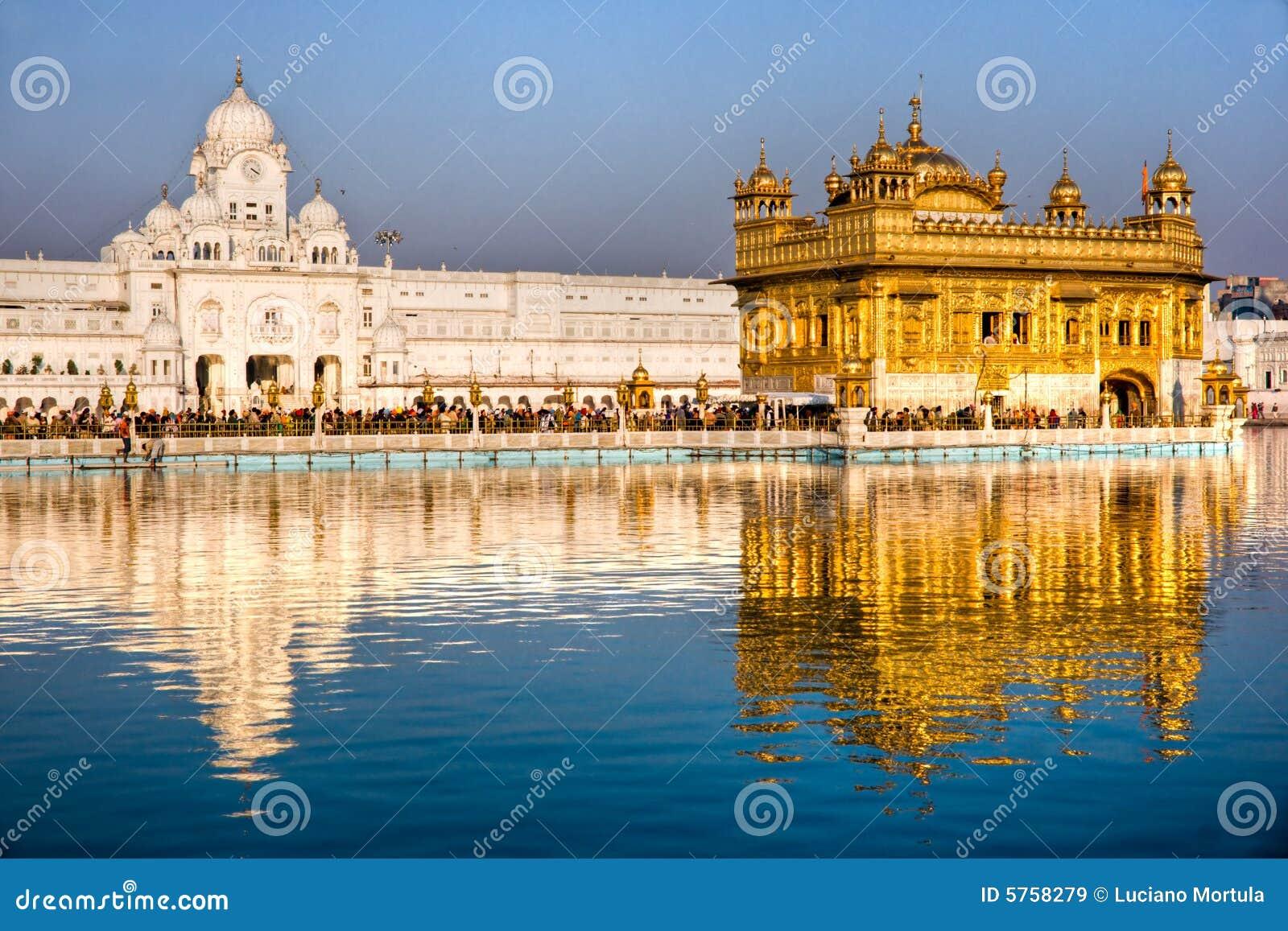 висок amritsar золотистый Индии Пенджаба