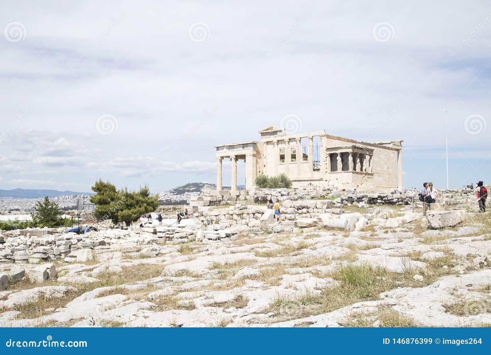 Висок Erechtheion, Афина, Греция - май 2014