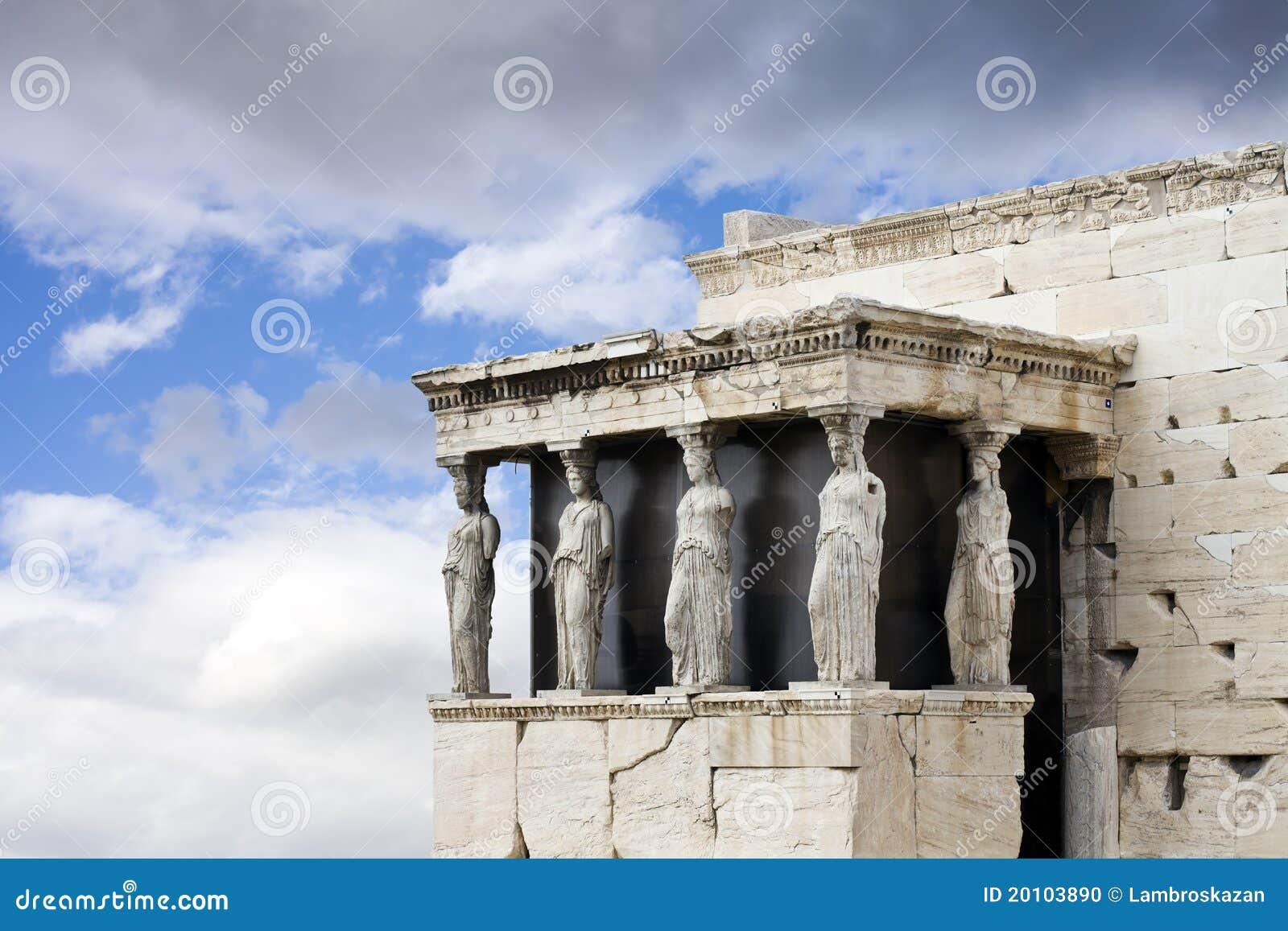 висок erechtheum caryatids athens акрополя