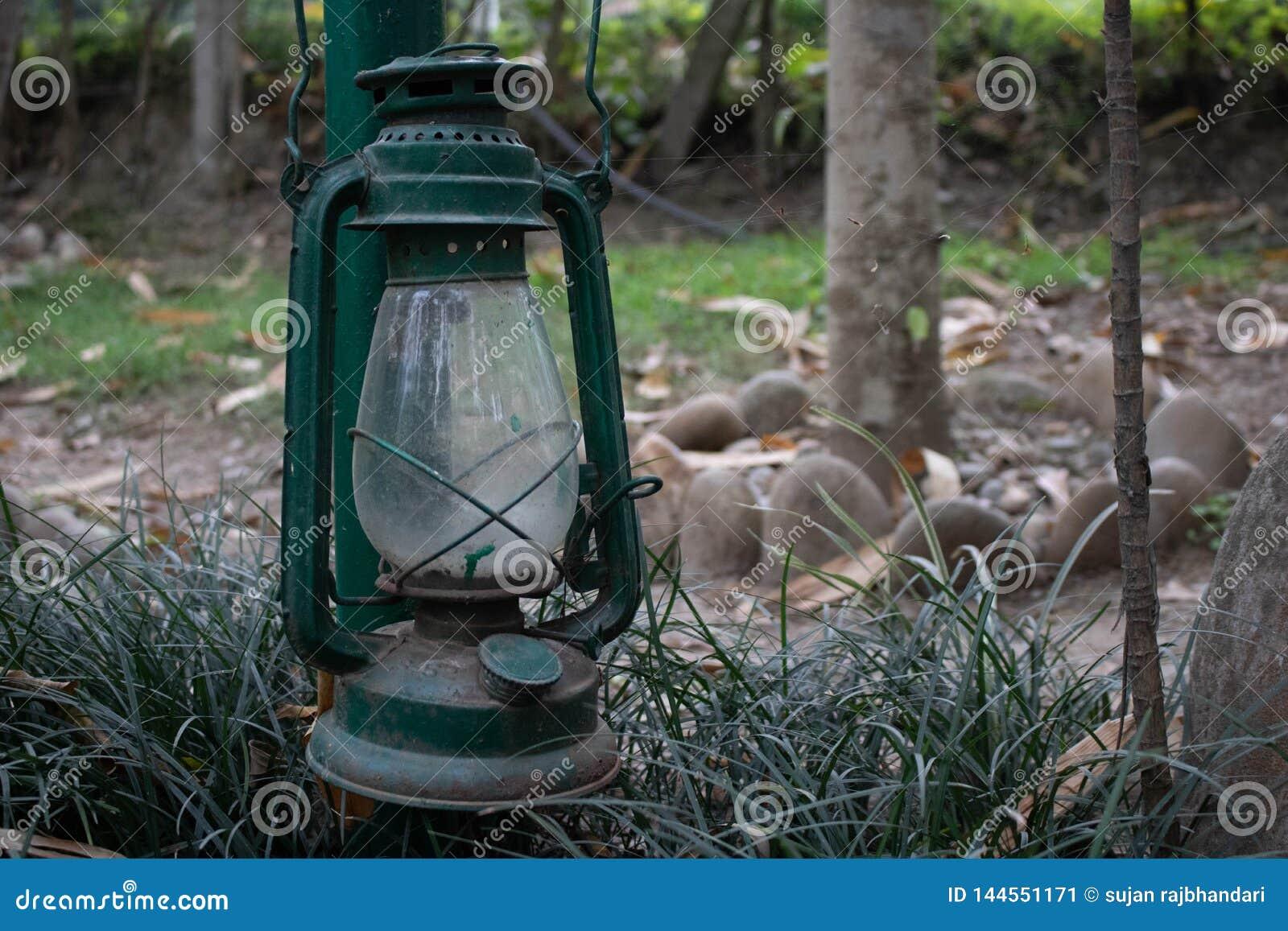 Вися фонарик в саде