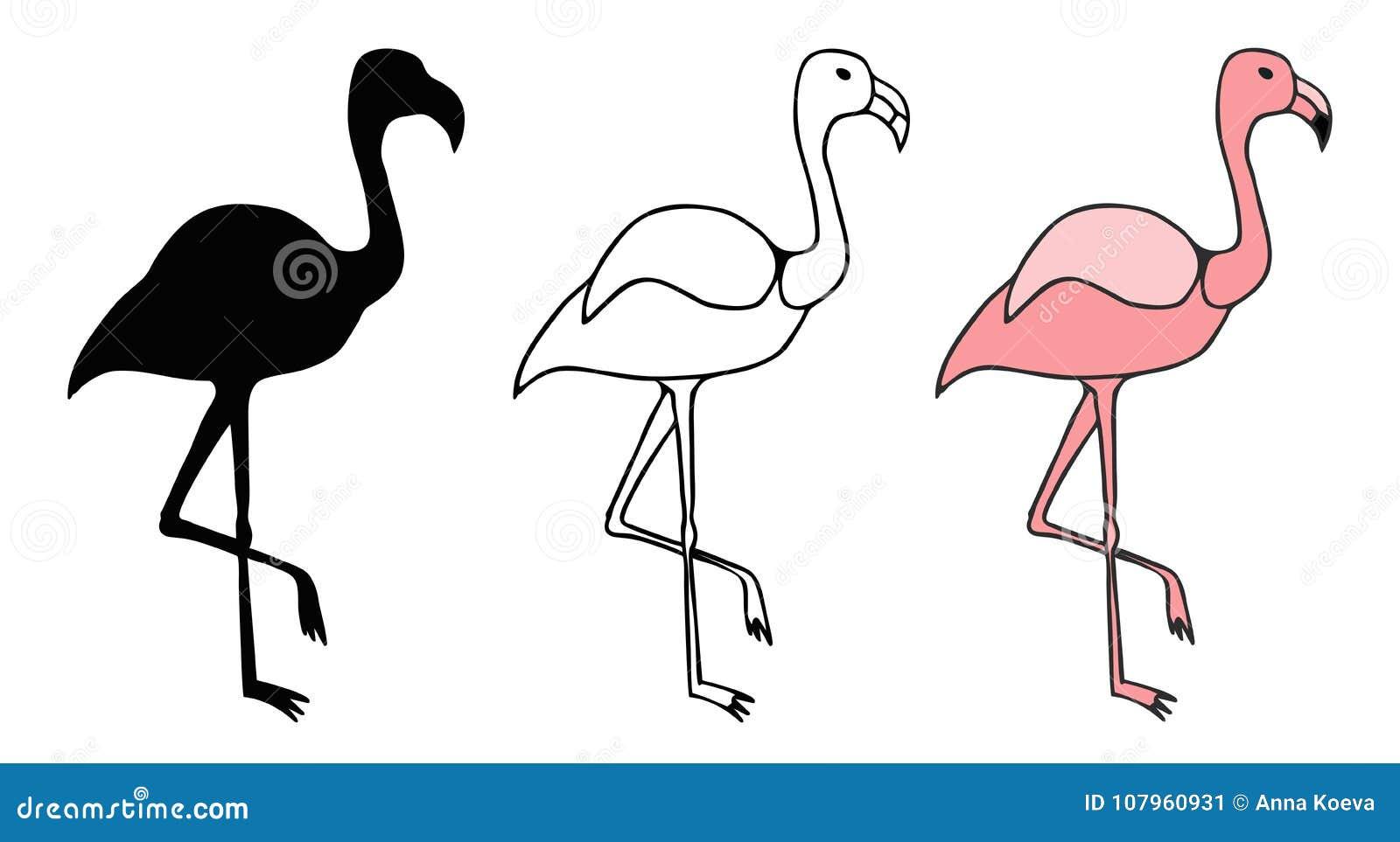 Витраж фламинго розов