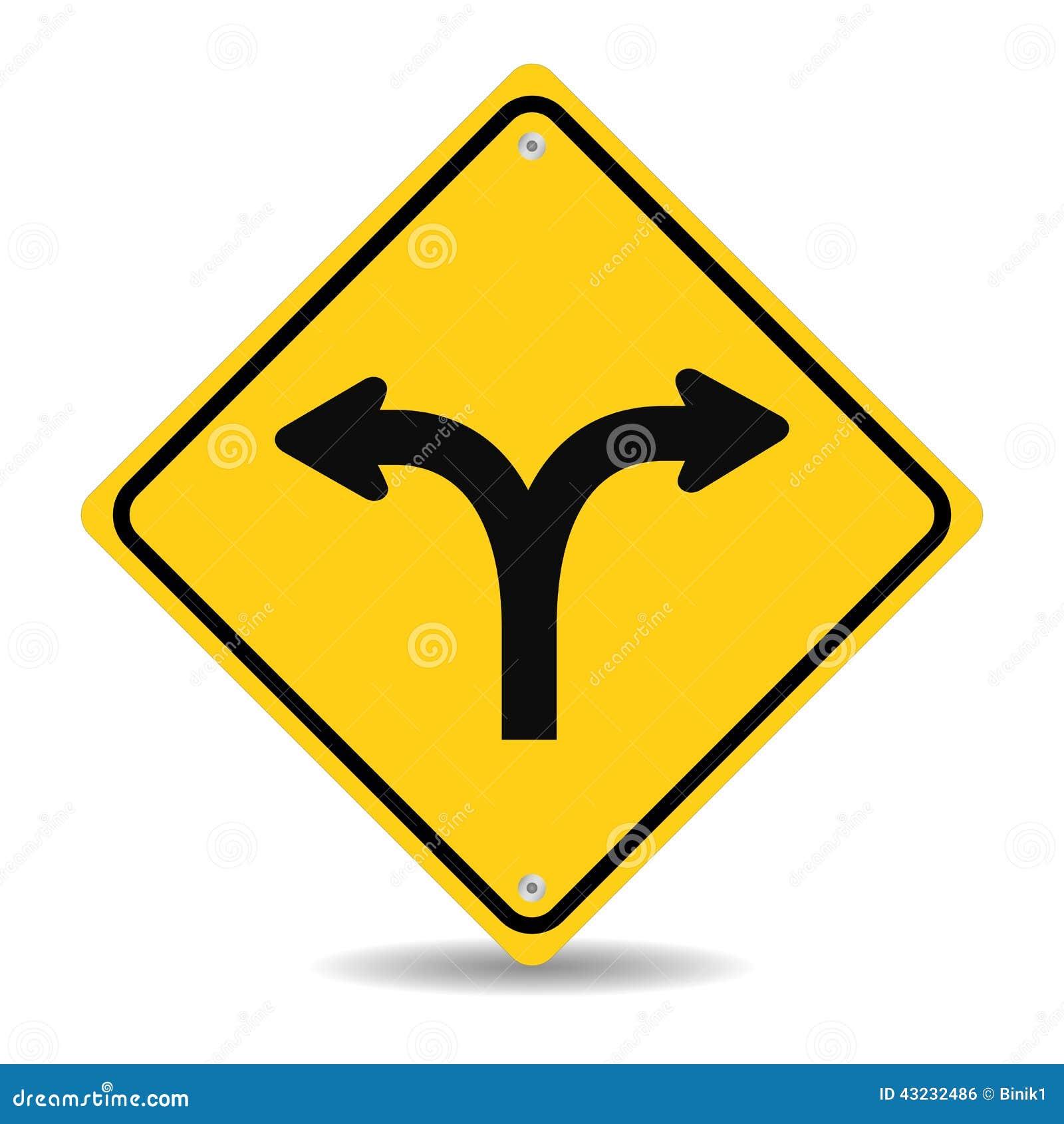 Вилка в дорожном знаке