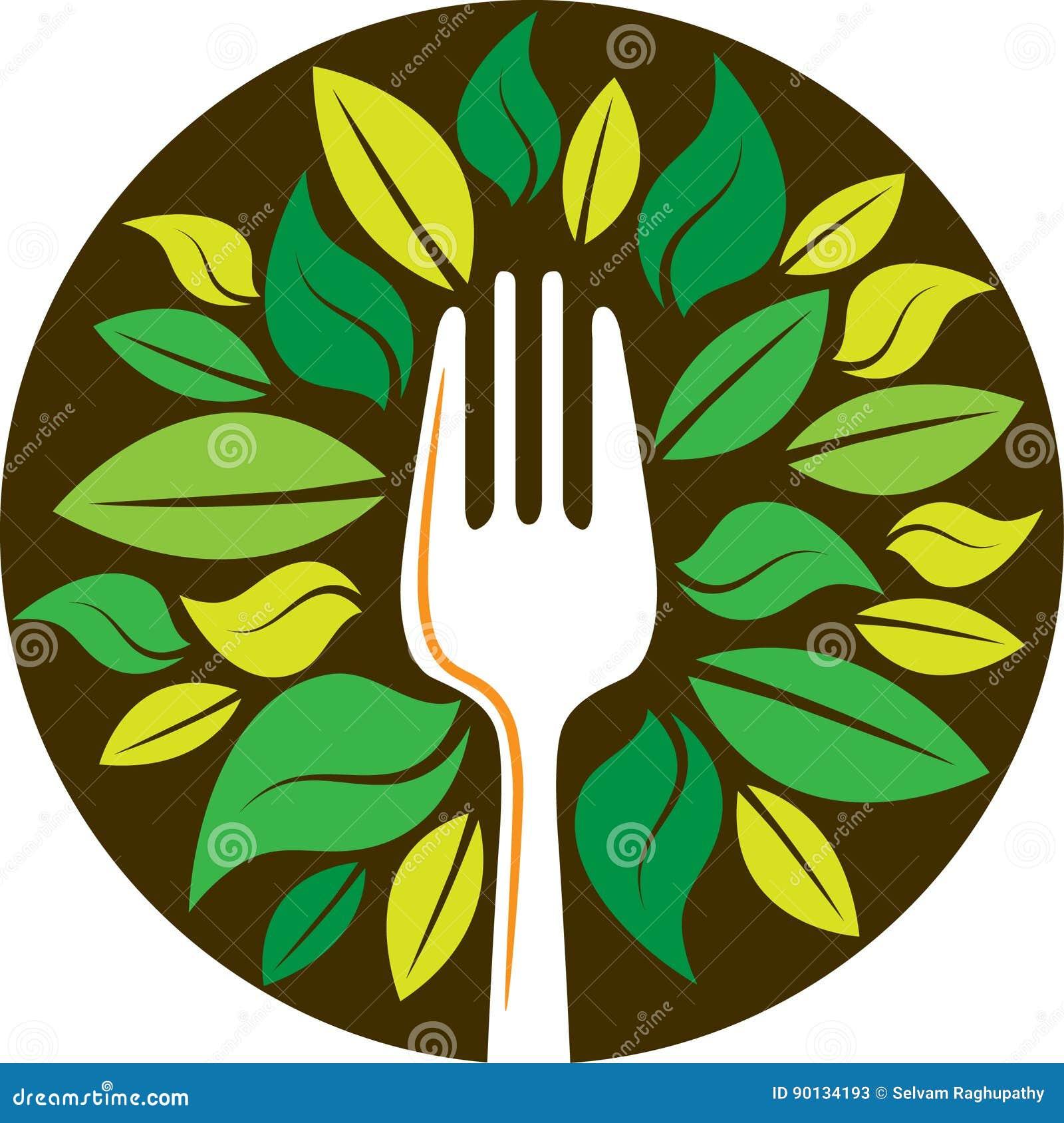 Вилка с листьями