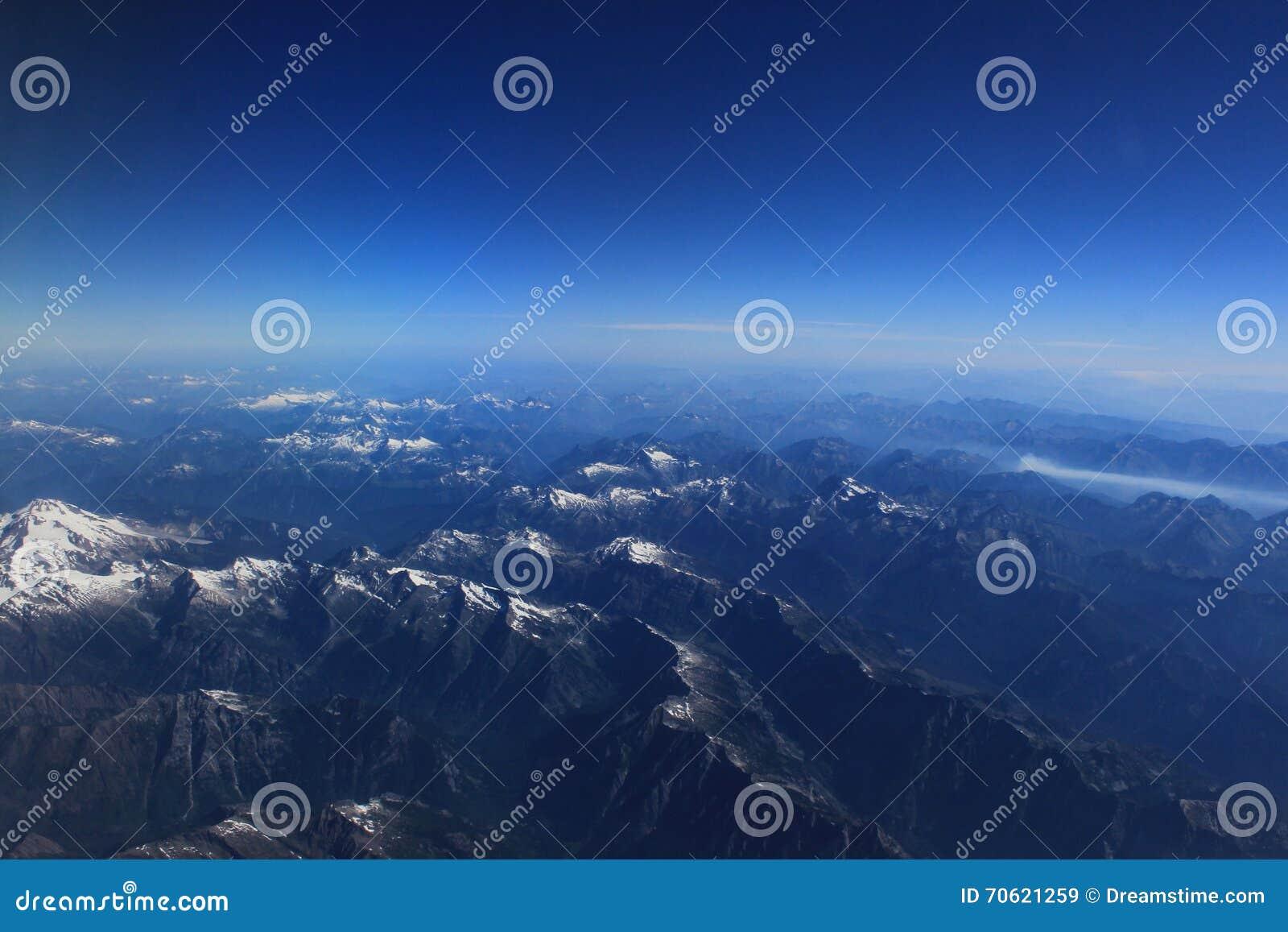 Вид с воздуха горной цепи Вашингтона