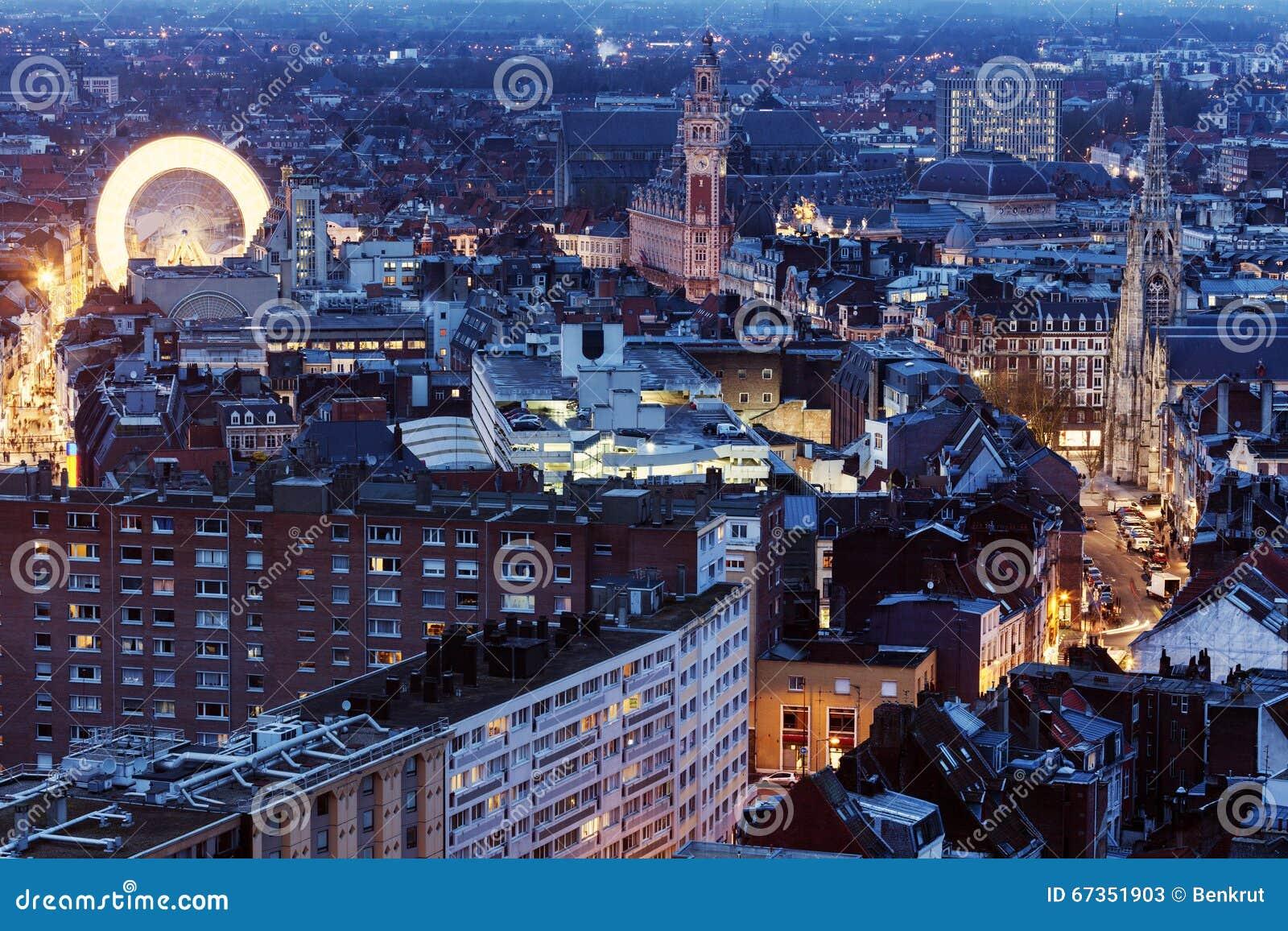 Вид с воздуха Лилля