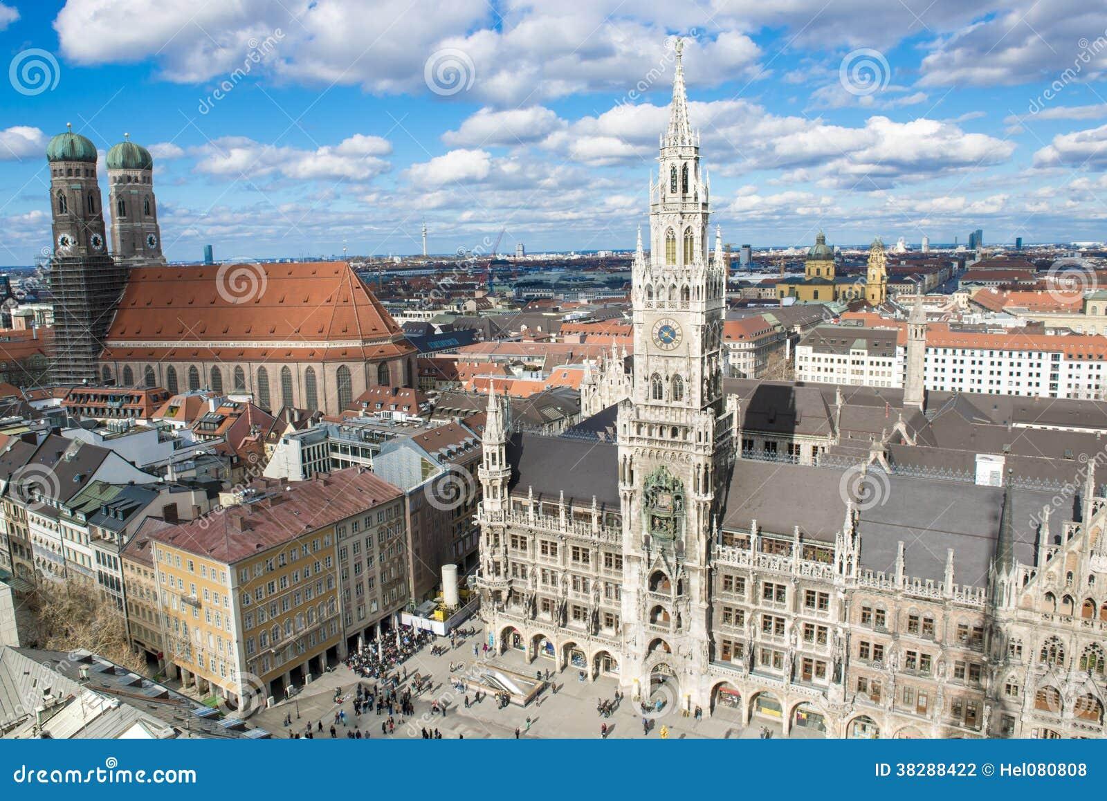 Вид с воздуха Мюнхен