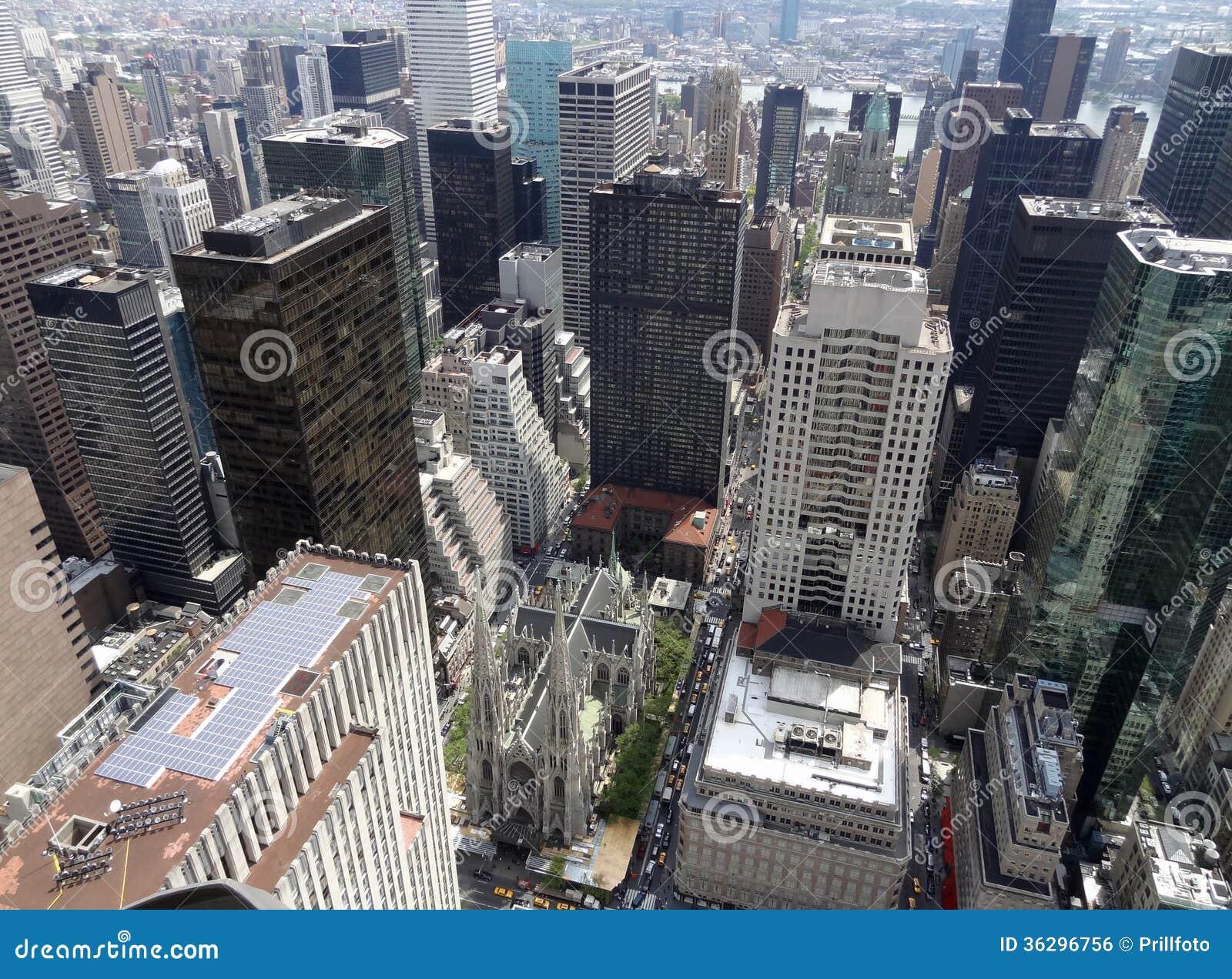 Вид с воздуха Нью-Йорка