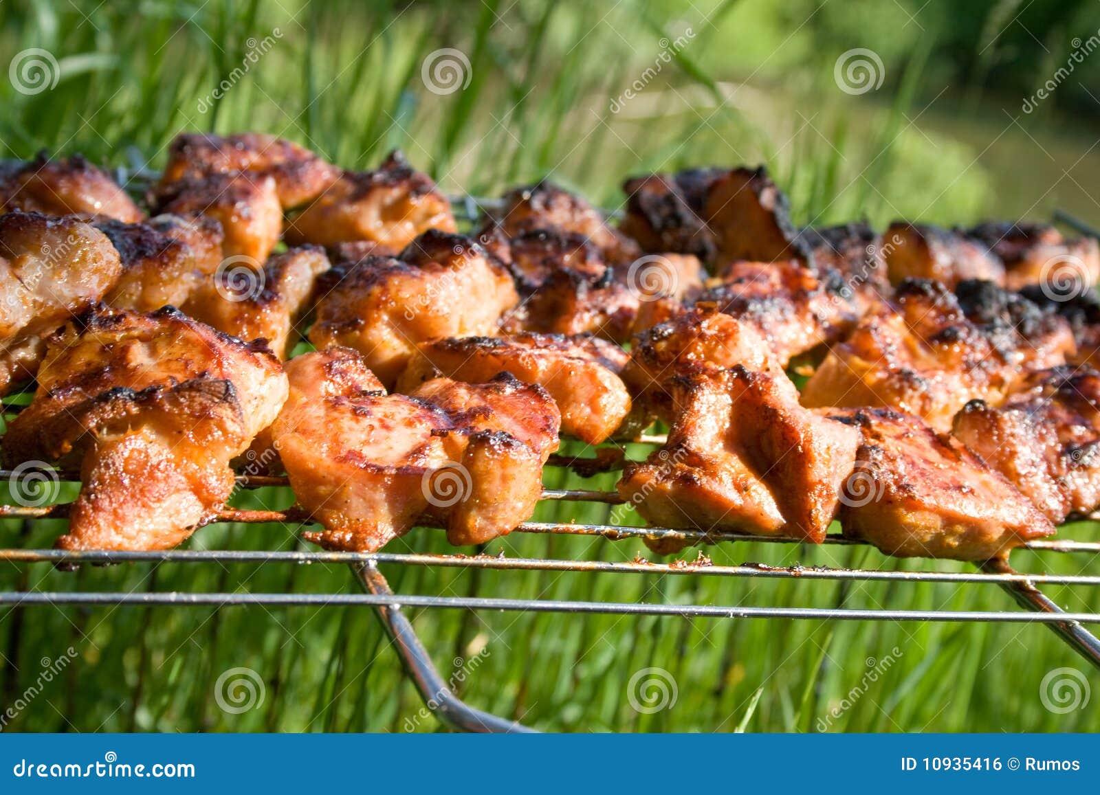 вкусное решетки подготовленное мясом