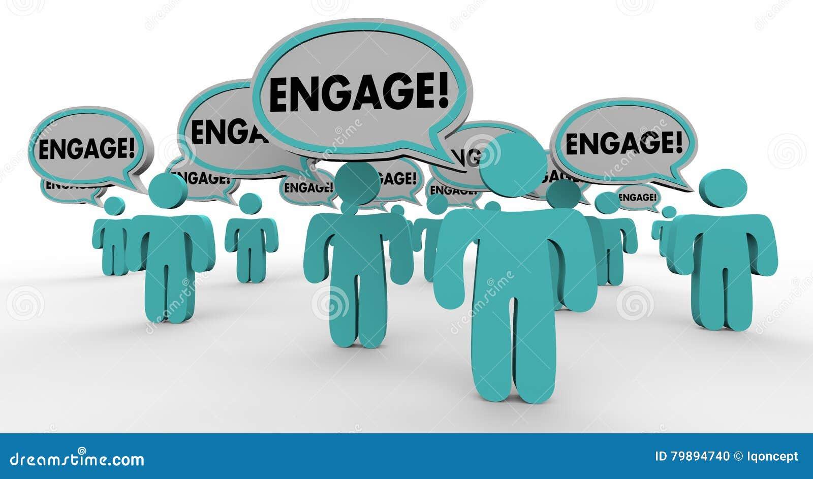 Включите взаимодействующее включите людей пузыря речи