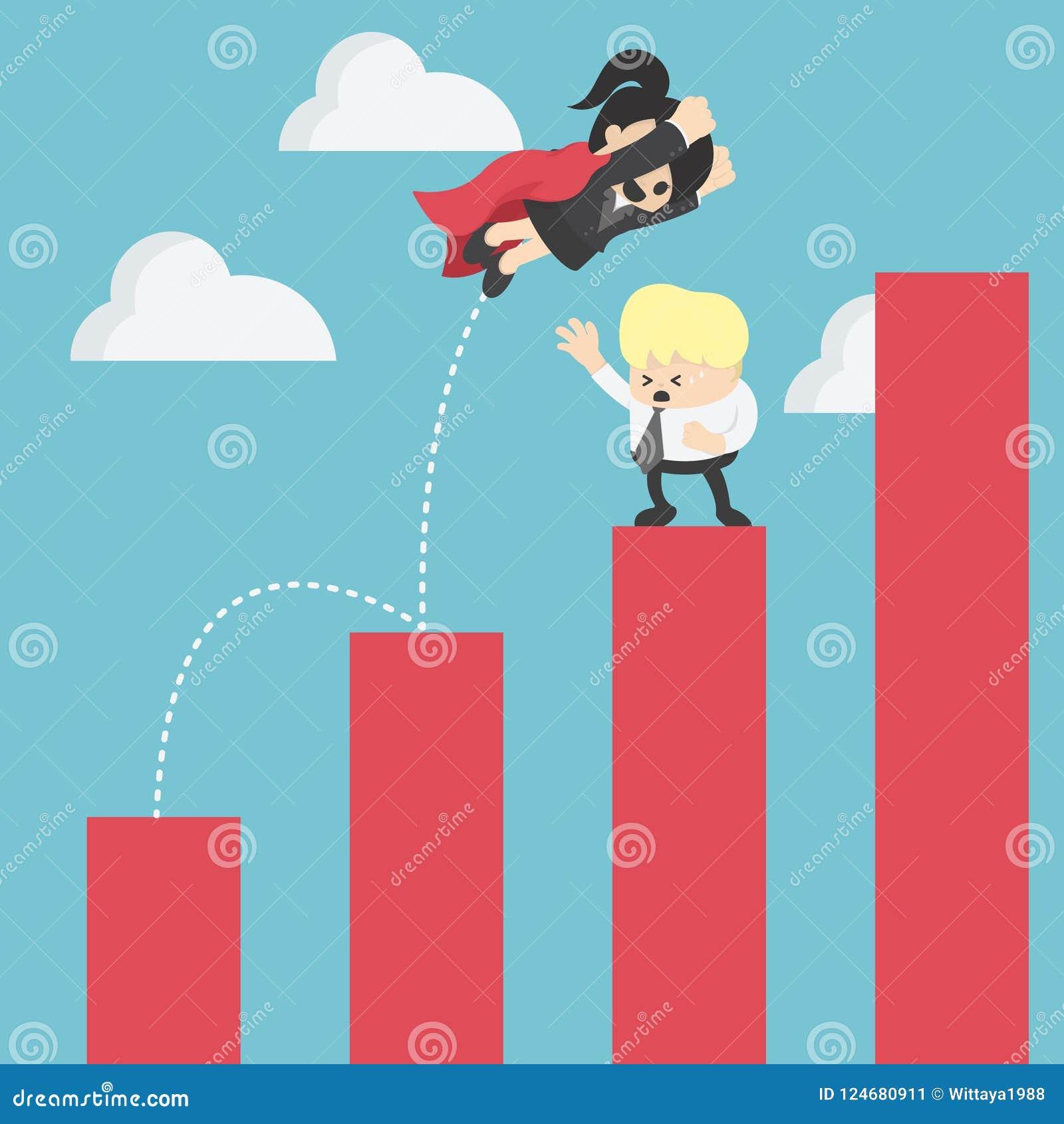 владение домашнего ключа принципиальной схемы дела золотистое достигая небо к Супер дело скачет над низкими уровнями конкурент